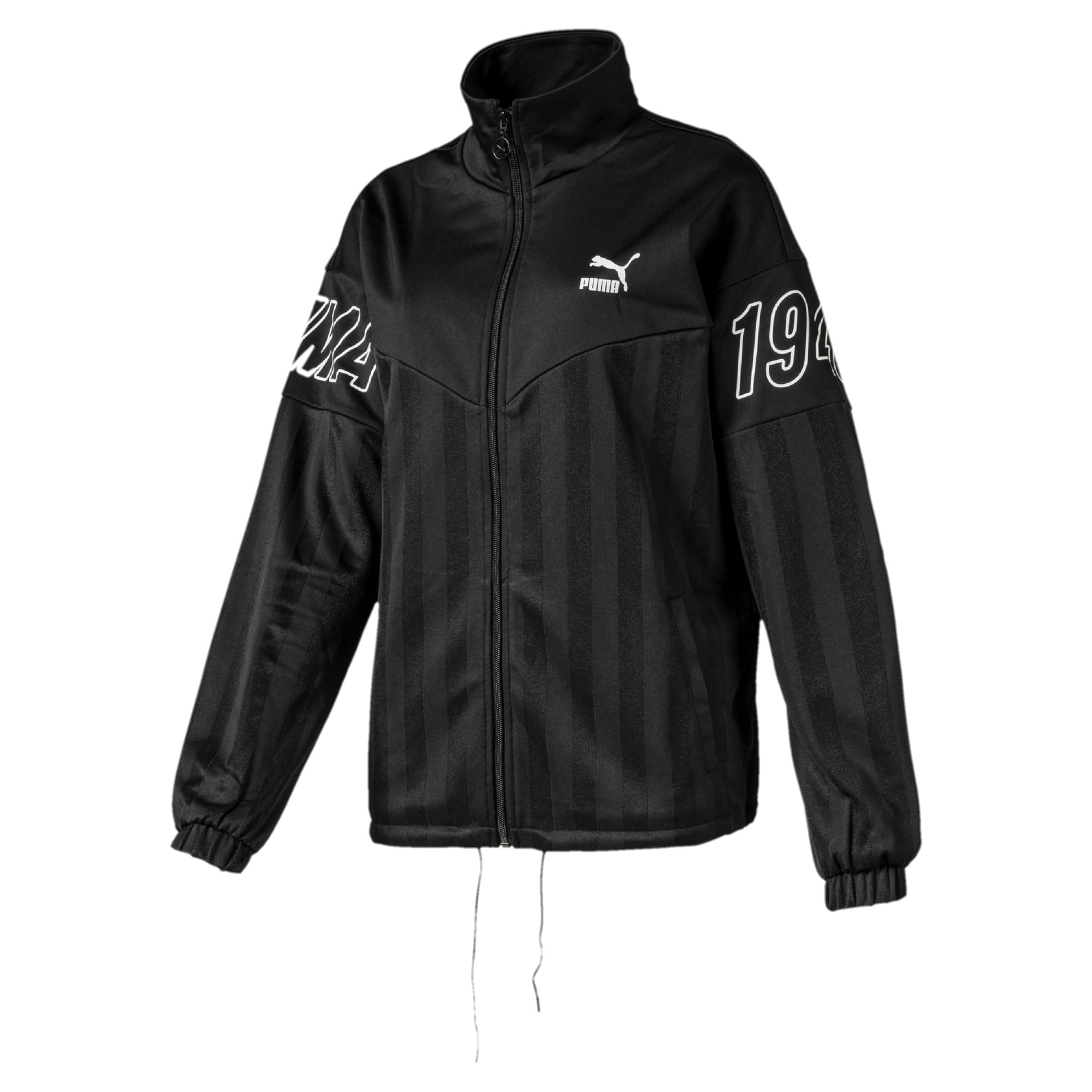 Thumbnail 1 of luXTG Jacquard Women's Track Jacket, Puma Black, medium