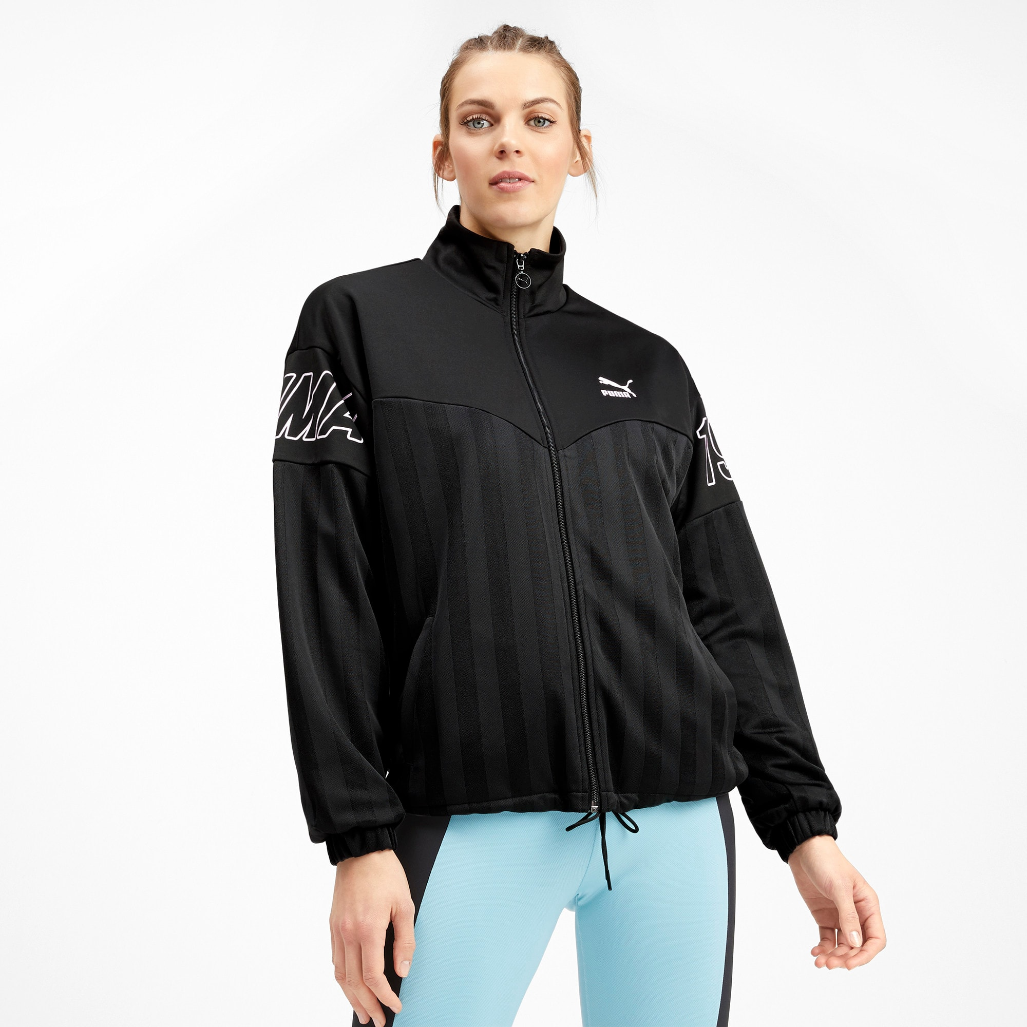 Thumbnail 2 of luXTG Jacquard Women's Track Jacket, Puma Black, medium