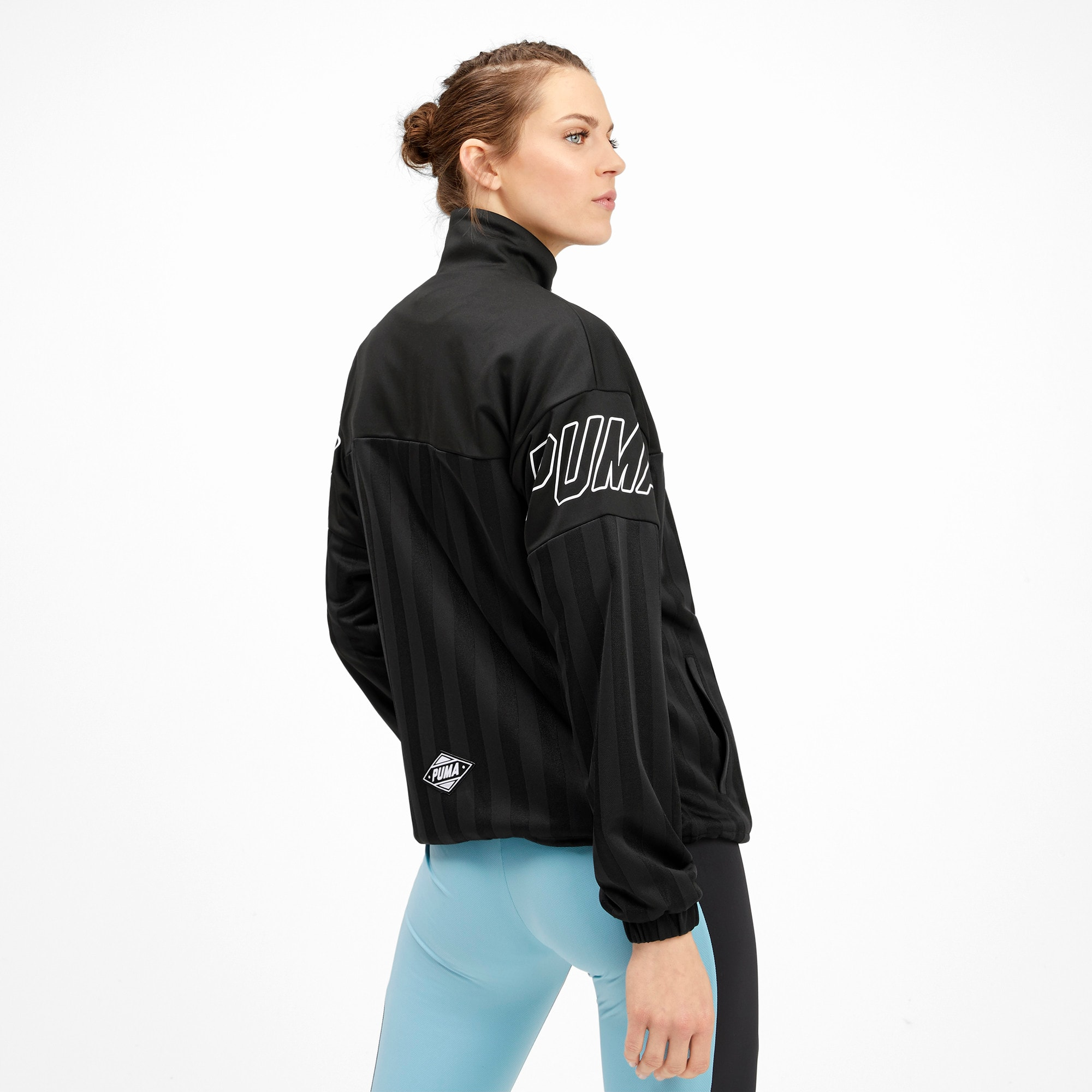 Thumbnail 3 of luXTG Jacquard Women's Track Jacket, Puma Black, medium