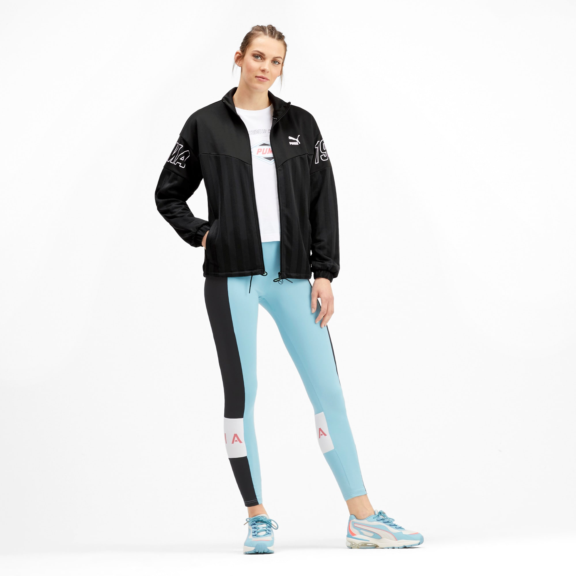 Thumbnail 4 of luXTG Jacquard Women's Track Jacket, Puma Black, medium