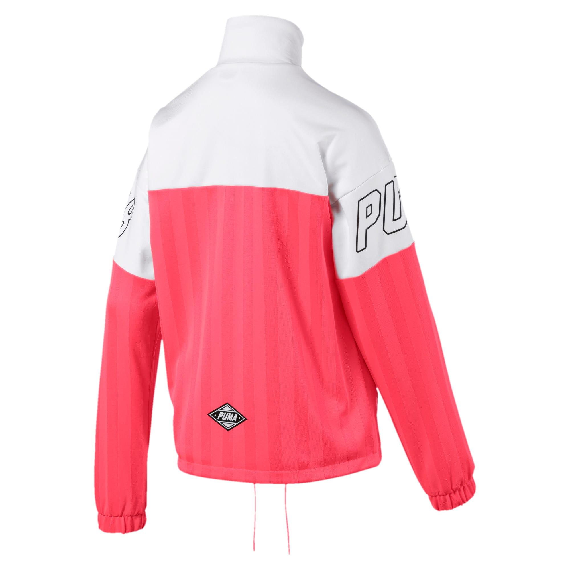 Thumbnail 5 of luXTG Jacquard Women's Track Jacket, Pink Alert, medium