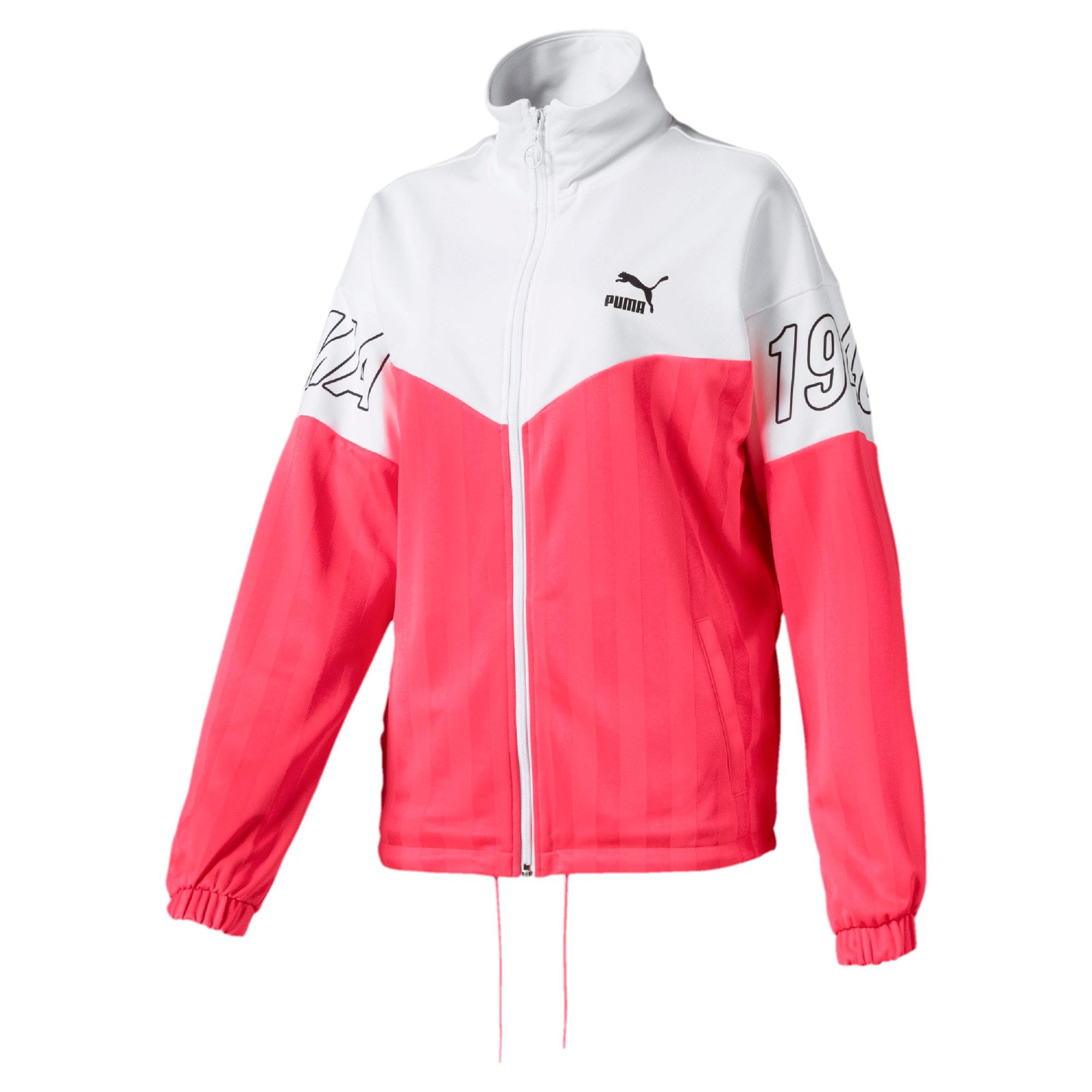 Thumbnail 1 of luXTG Jacquard Women's Track Jacket, Pink Alert, medium