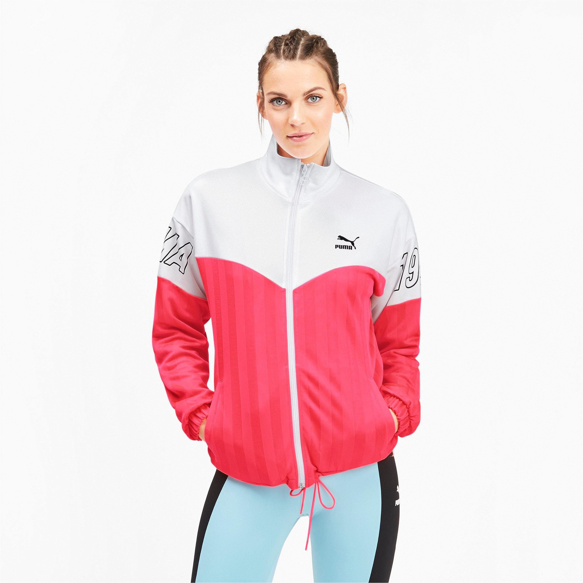 Thumbnail 2 of luXTG Jacquard Women's Track Jacket, Pink Alert, medium
