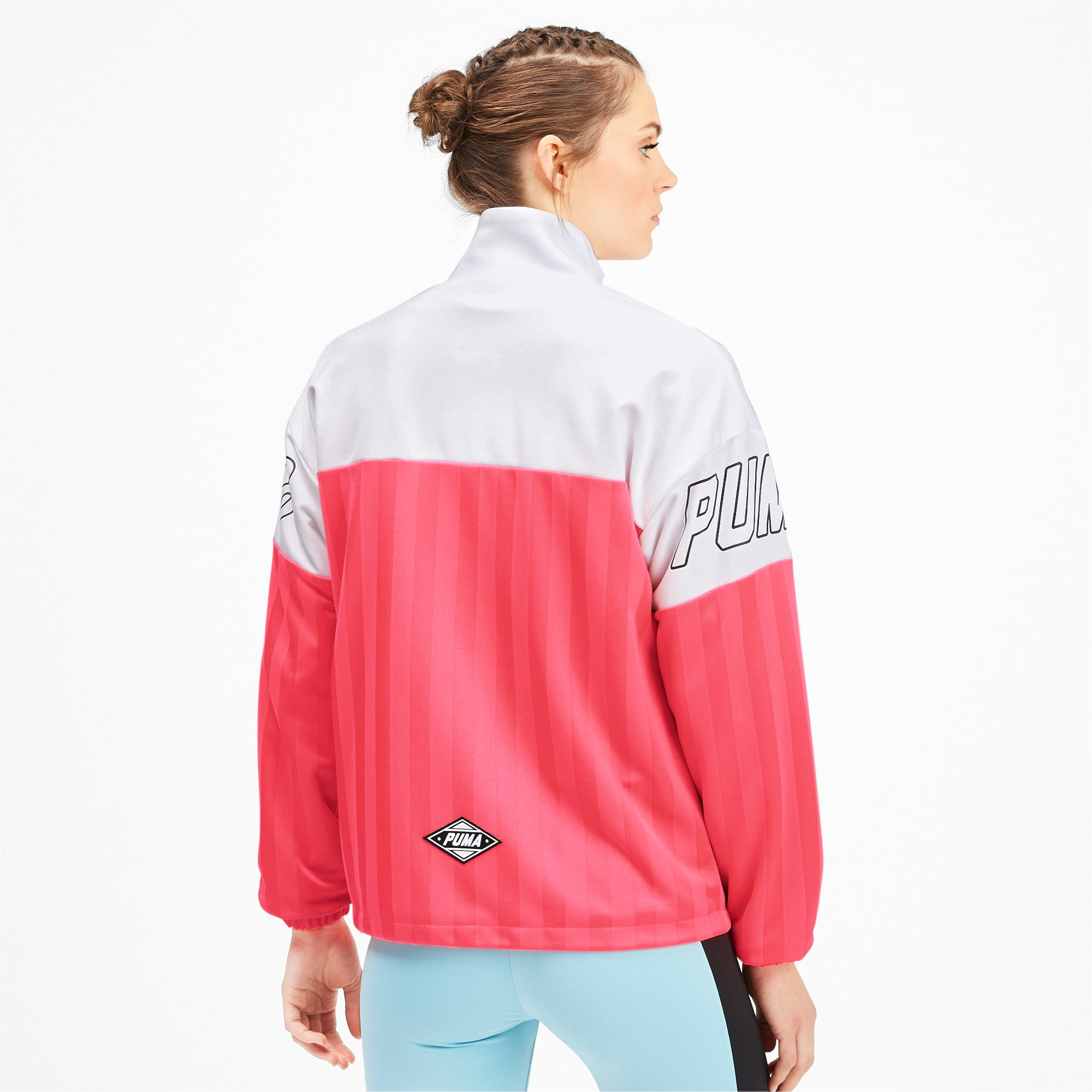 Thumbnail 3 of luXTG Jacquard Women's Track Jacket, Pink Alert, medium