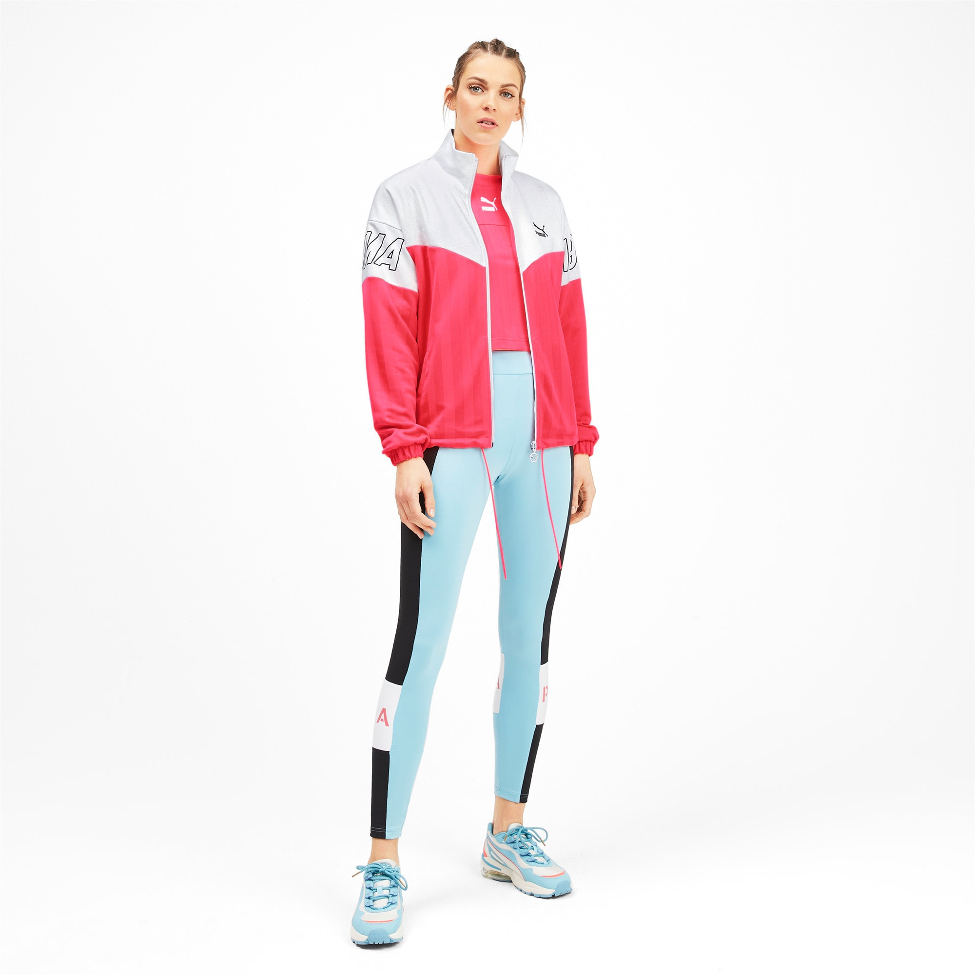 Thumbnail 4 of luXTG Jacquard Women's Track Jacket, Pink Alert, medium