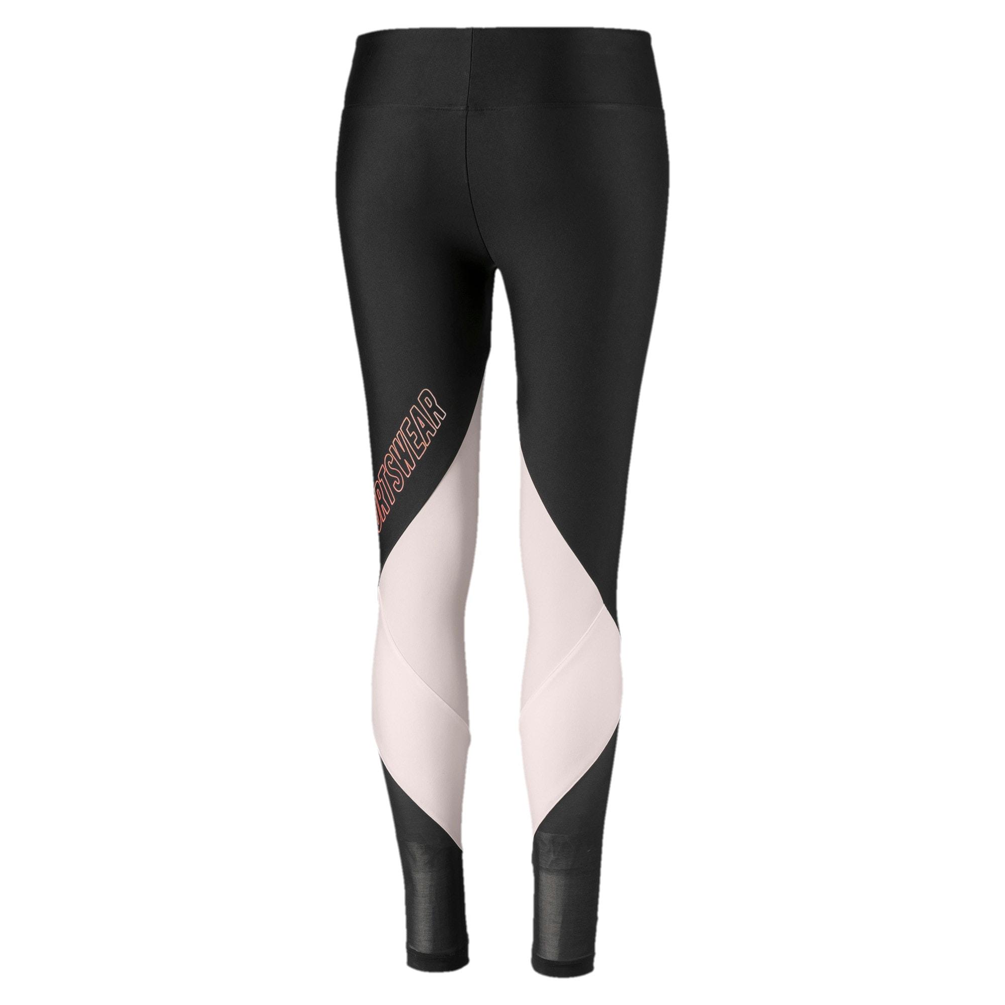 Thumbnail 5 van luXTG legging voor vrouwen, Puma Black-Pastel Parchment, medium