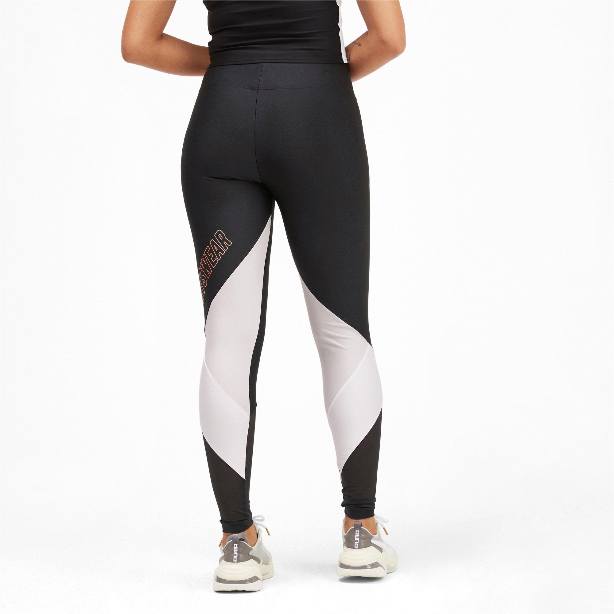 Thumbnail 2 van luXTG legging voor vrouwen, Puma Black-Pastel Parchment, medium