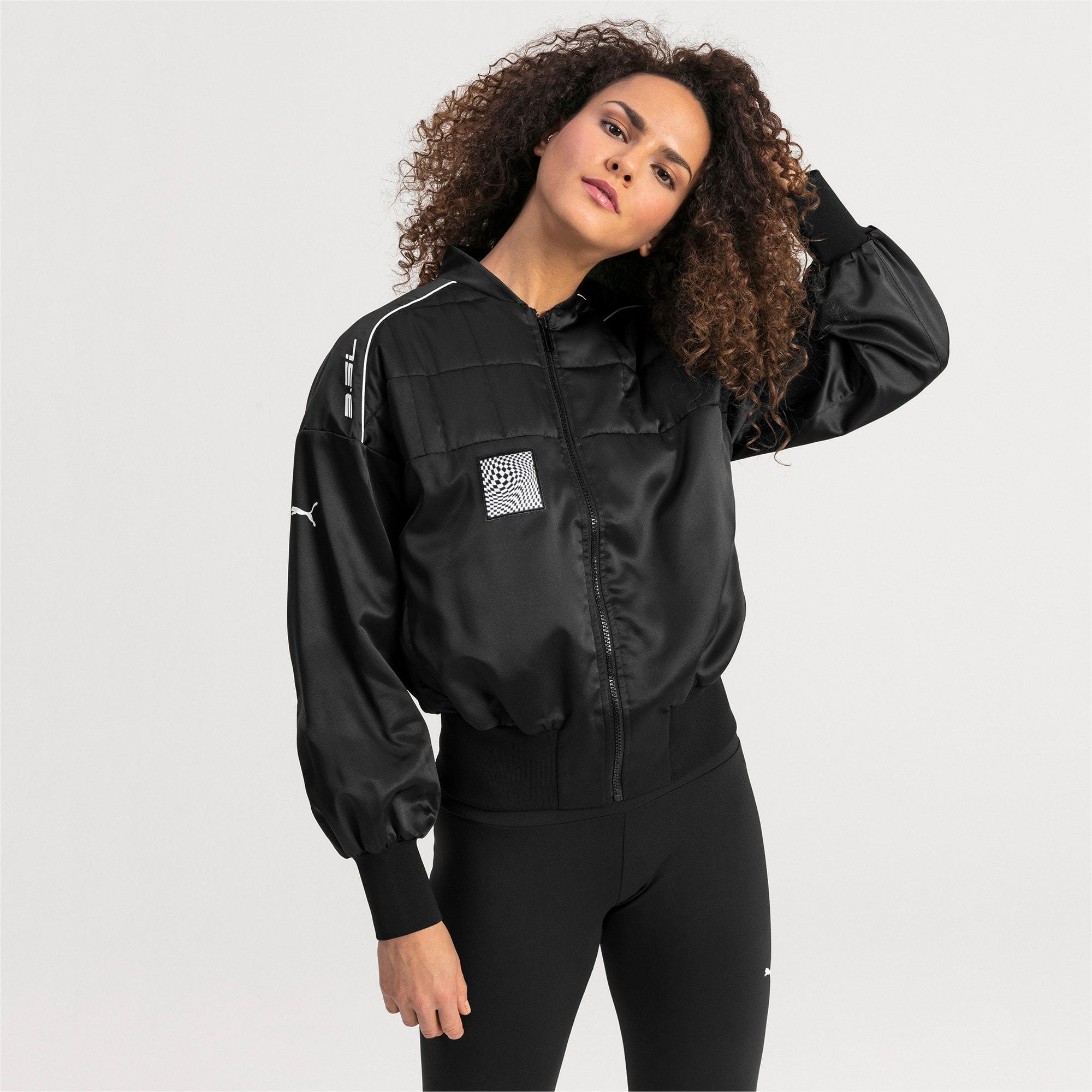 Thumbnail 1 of BMW M Motorsport Women's Street Jacket, Puma Black, medium