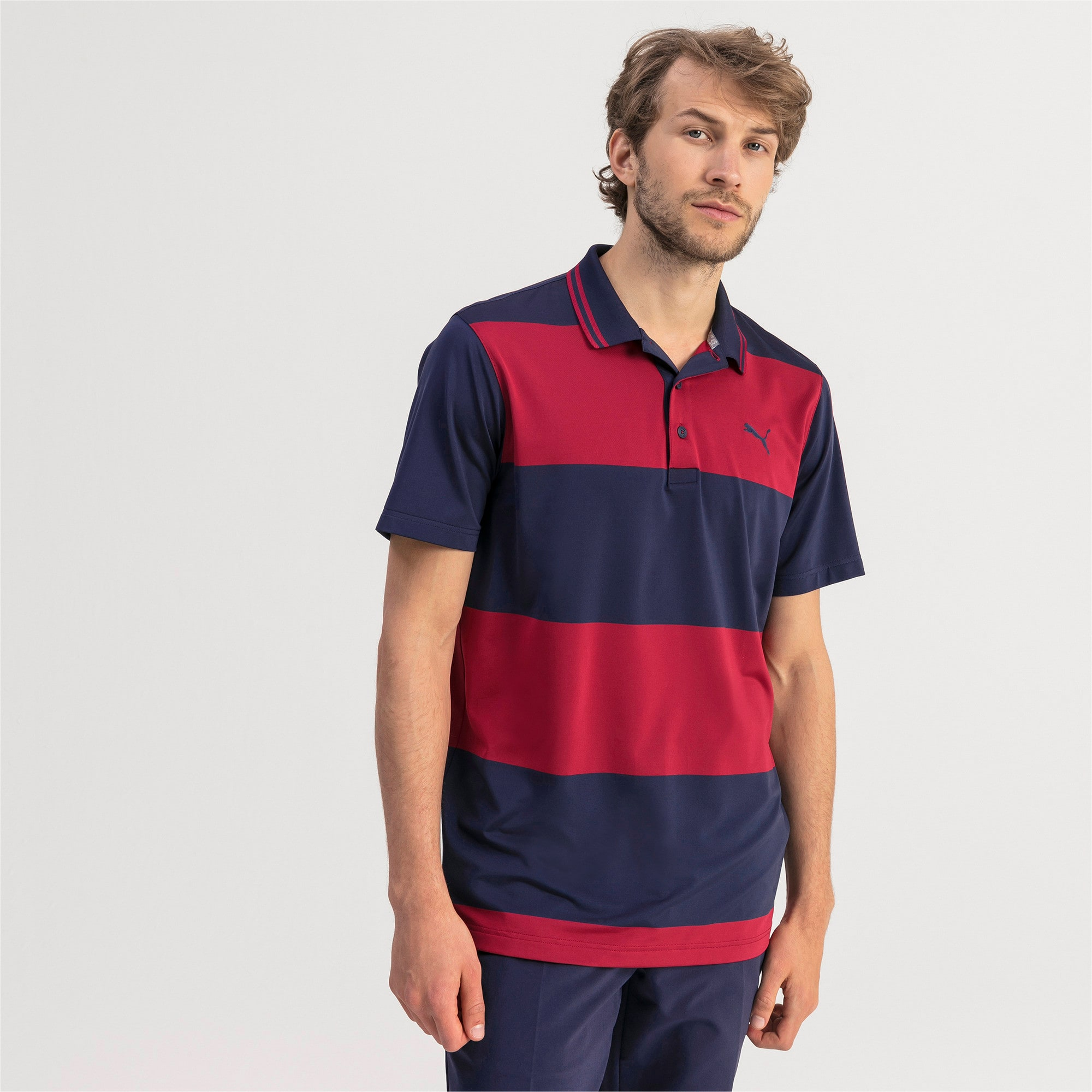 Thumbnail 1 of Polo Rugby Golf pour homme, Peacoat-Rhubarb, medium