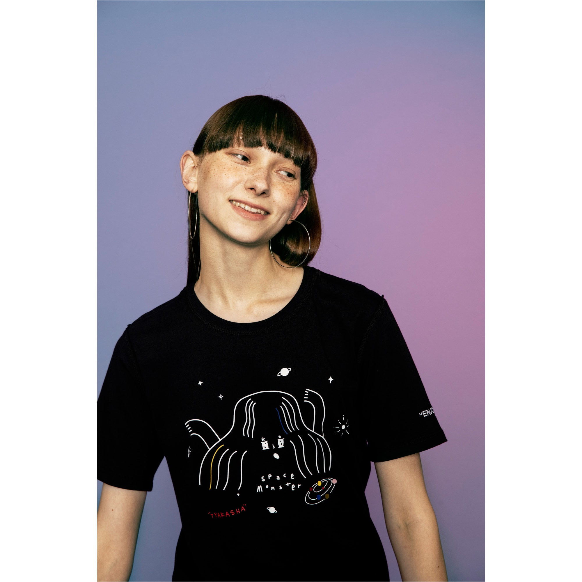 Miniatura 6 de Camiseta PUMA x TYAKASHA , Cotton Black, mediano