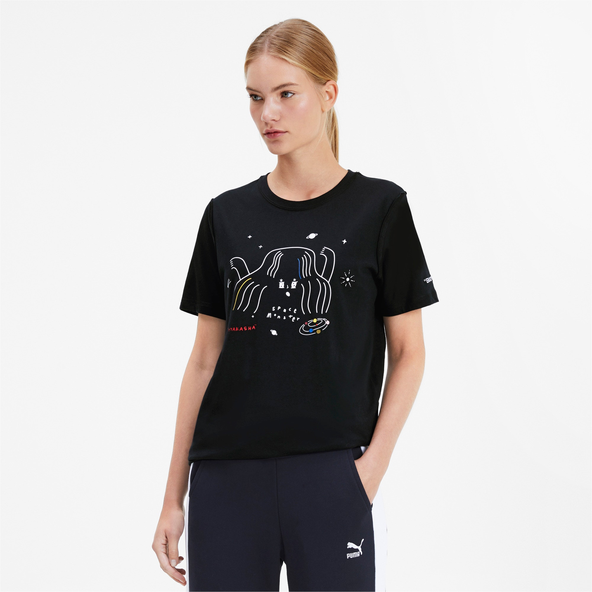 Thumbnail 2 van PUMA x TYAKASHA T-shirt, Cotton Black, medium