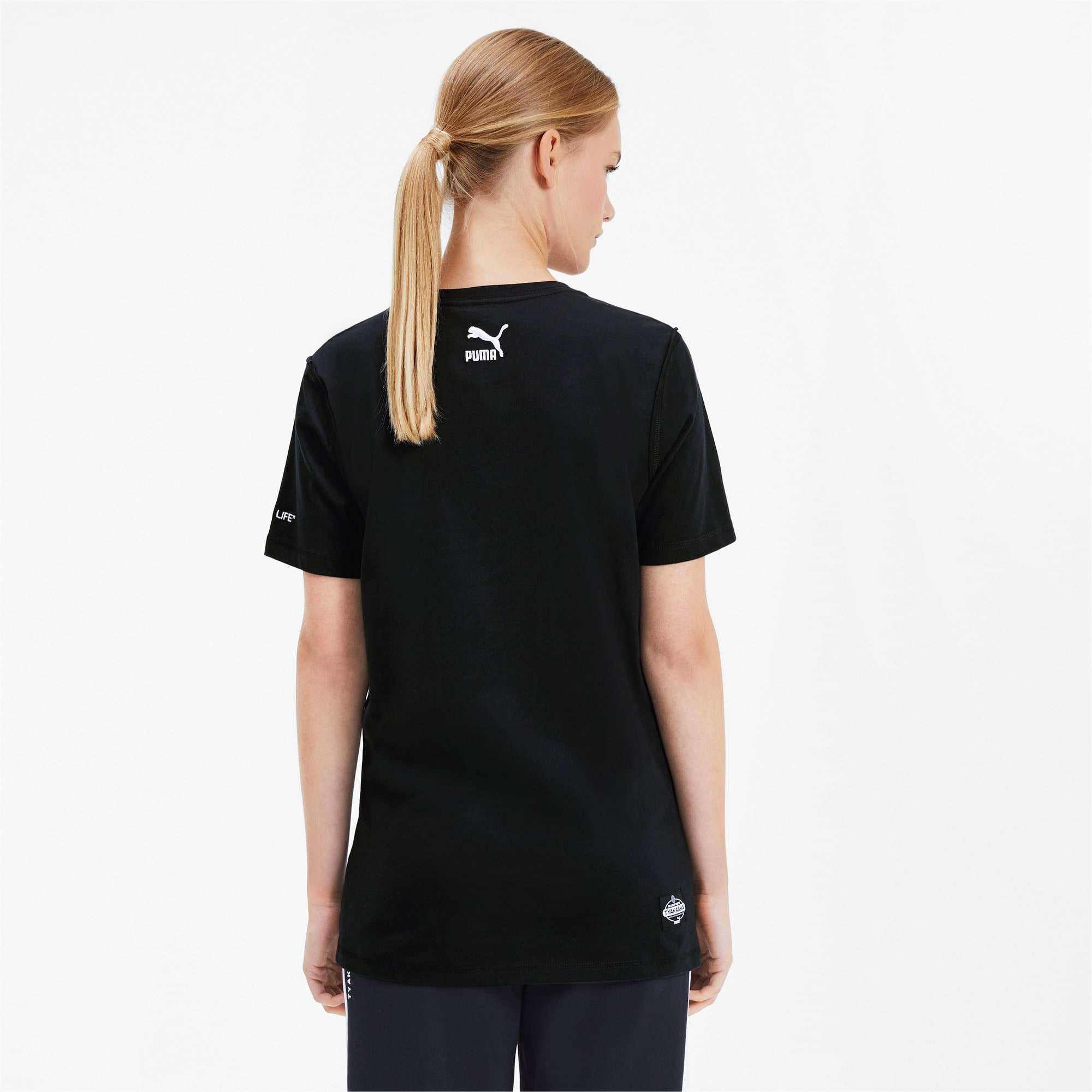 Thumbnail 3 van PUMA x TYAKASHA T-shirt, Cotton Black, medium