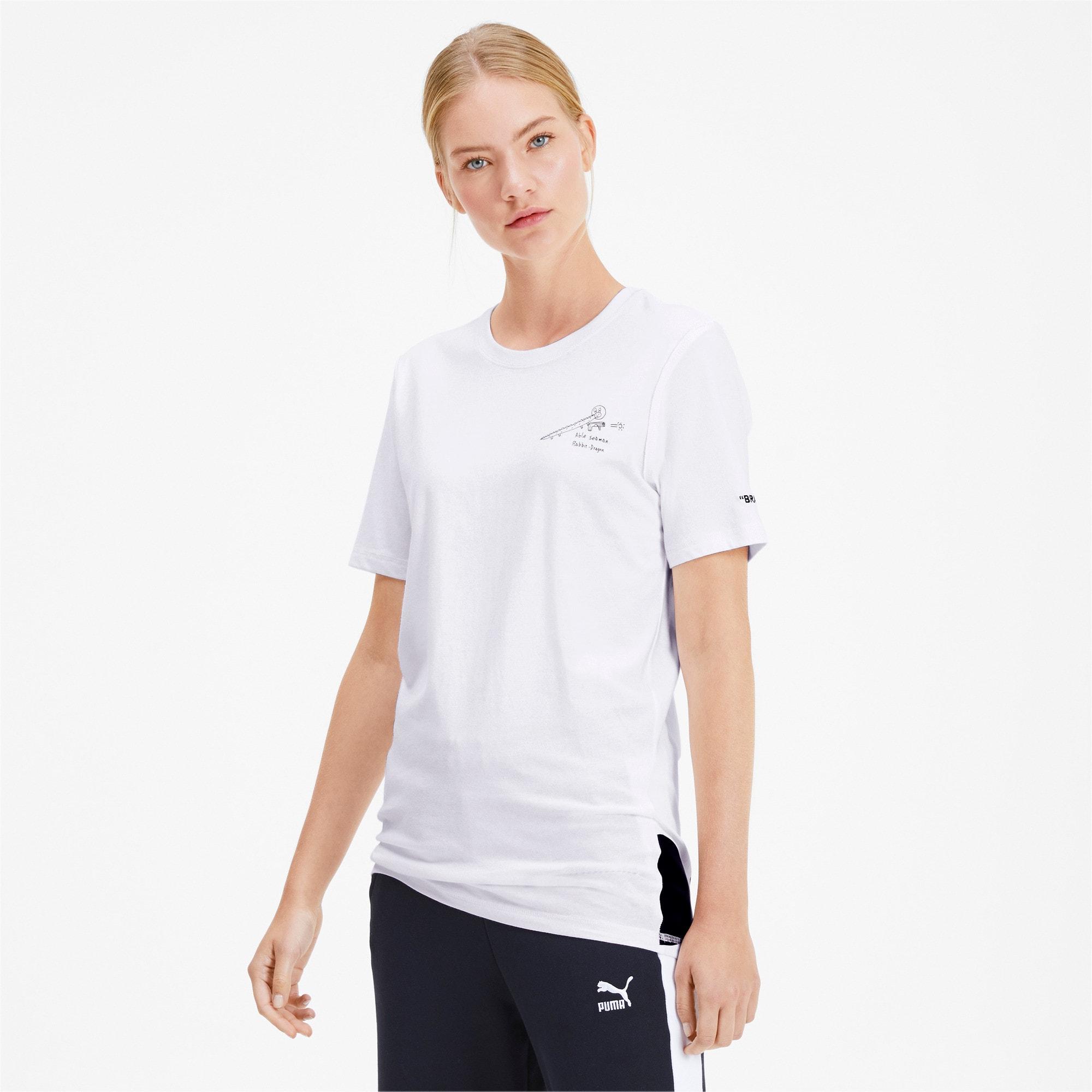Thumbnail 2 of PUMA x TYAKASHA T-shirt, Puma White, medium