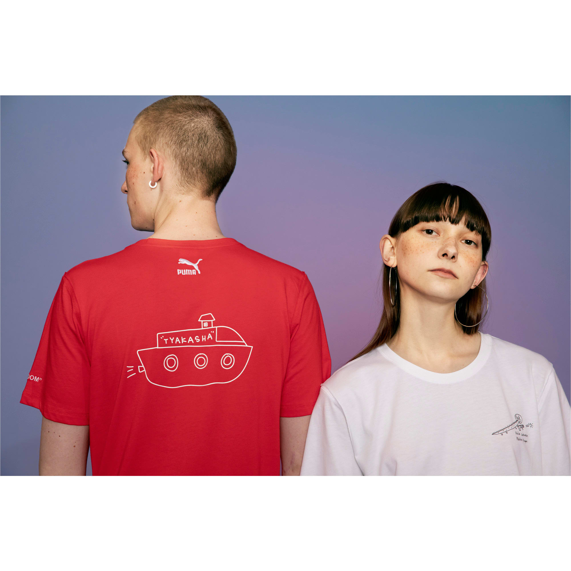 Thumbnail 6 of PUMA x TYAKASHA T-Shirt, High Risk Red, medium