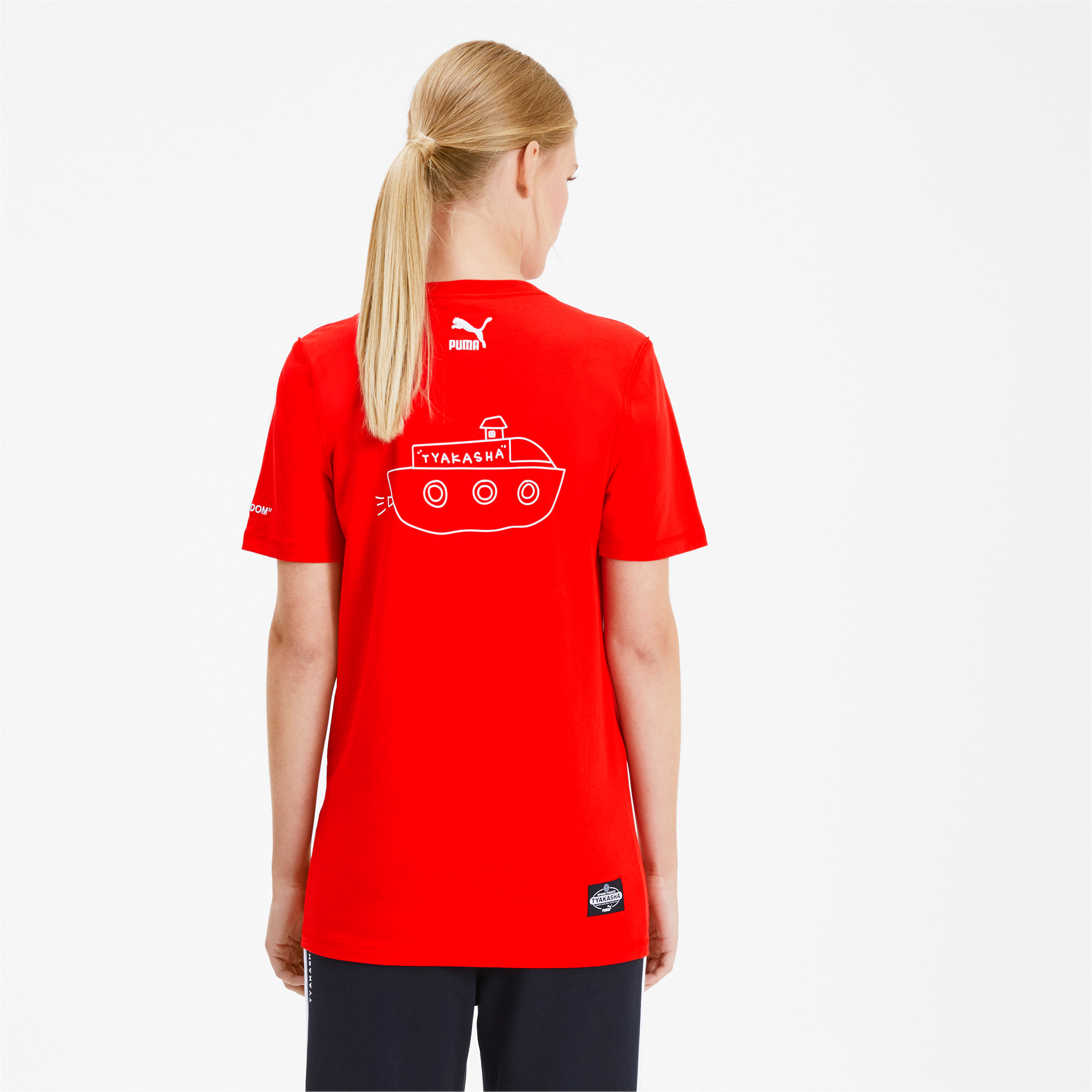 Thumbnail 3 of PUMA x TYAKASHA T-Shirt, High Risk Red, medium