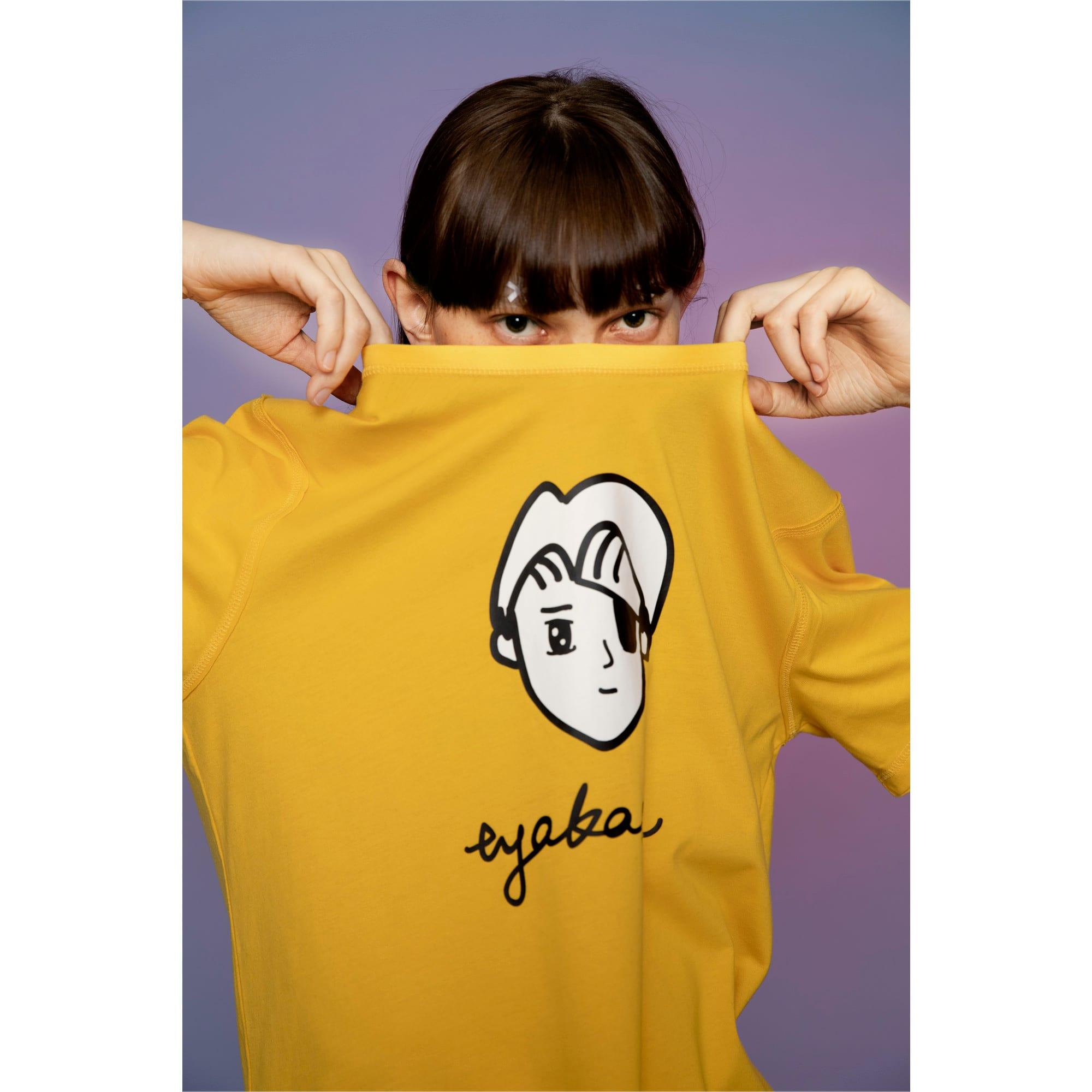 Thumbnail 6 of PUMA x TYAKASHA T-Shirt, Daffodil, medium