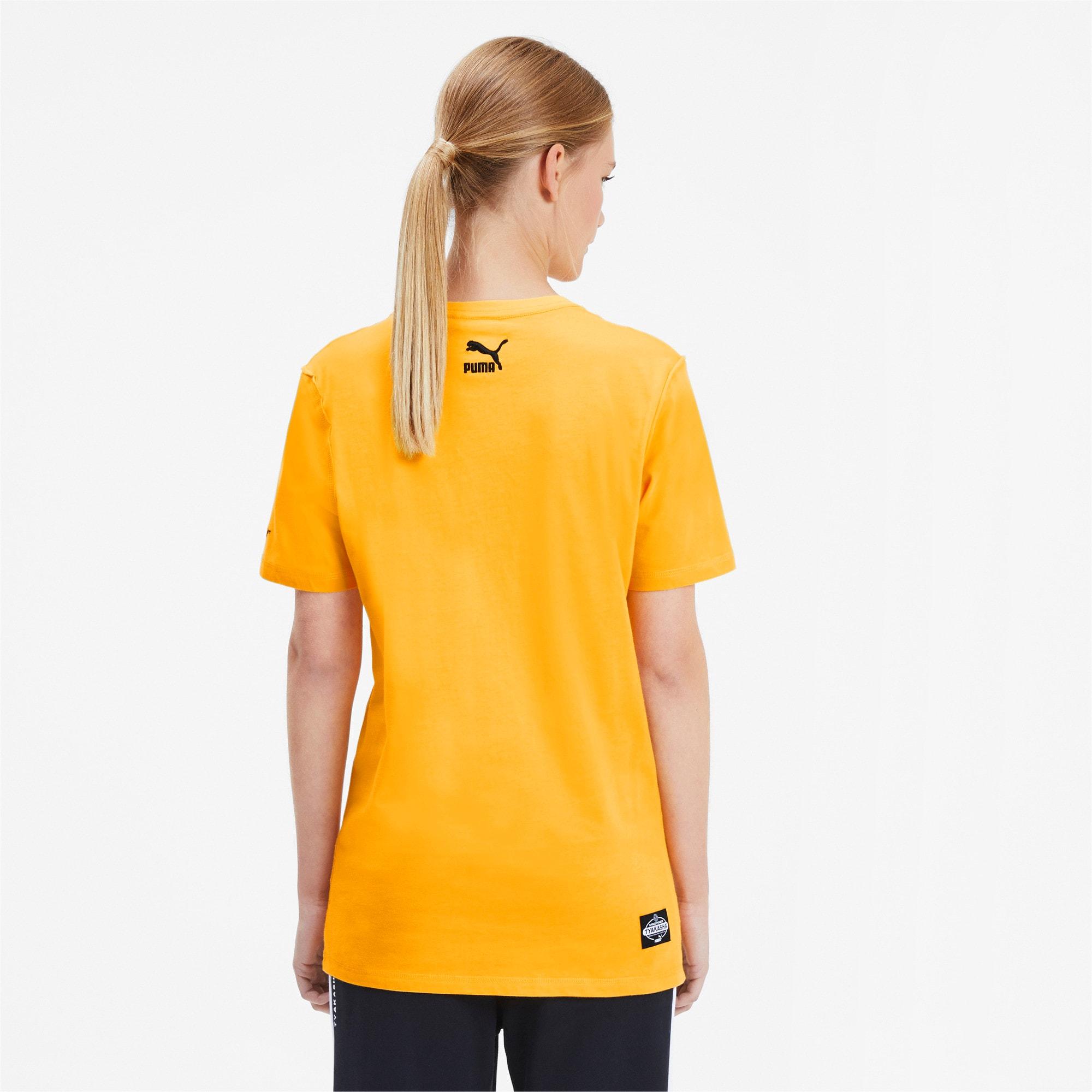 Thumbnail 3 of PUMA x TYAKASHA T-Shirt, Daffodil, medium