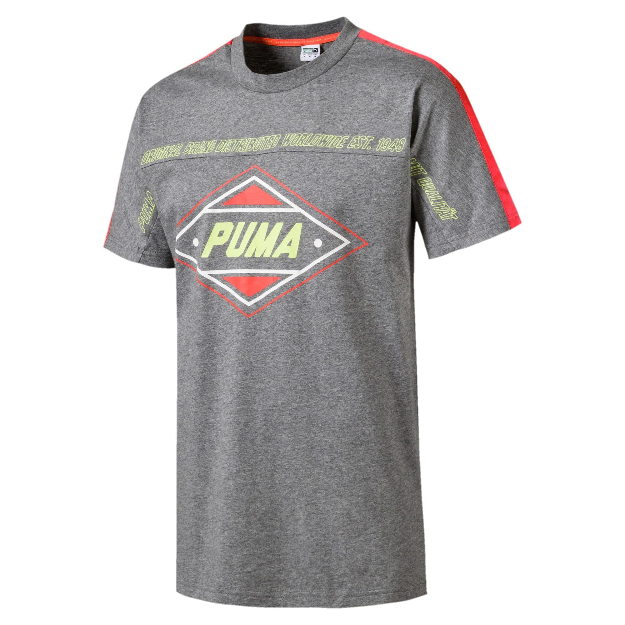 Miniatura 4 de Camiseta luXTG para hombre, Medium Gray Heather, mediano
