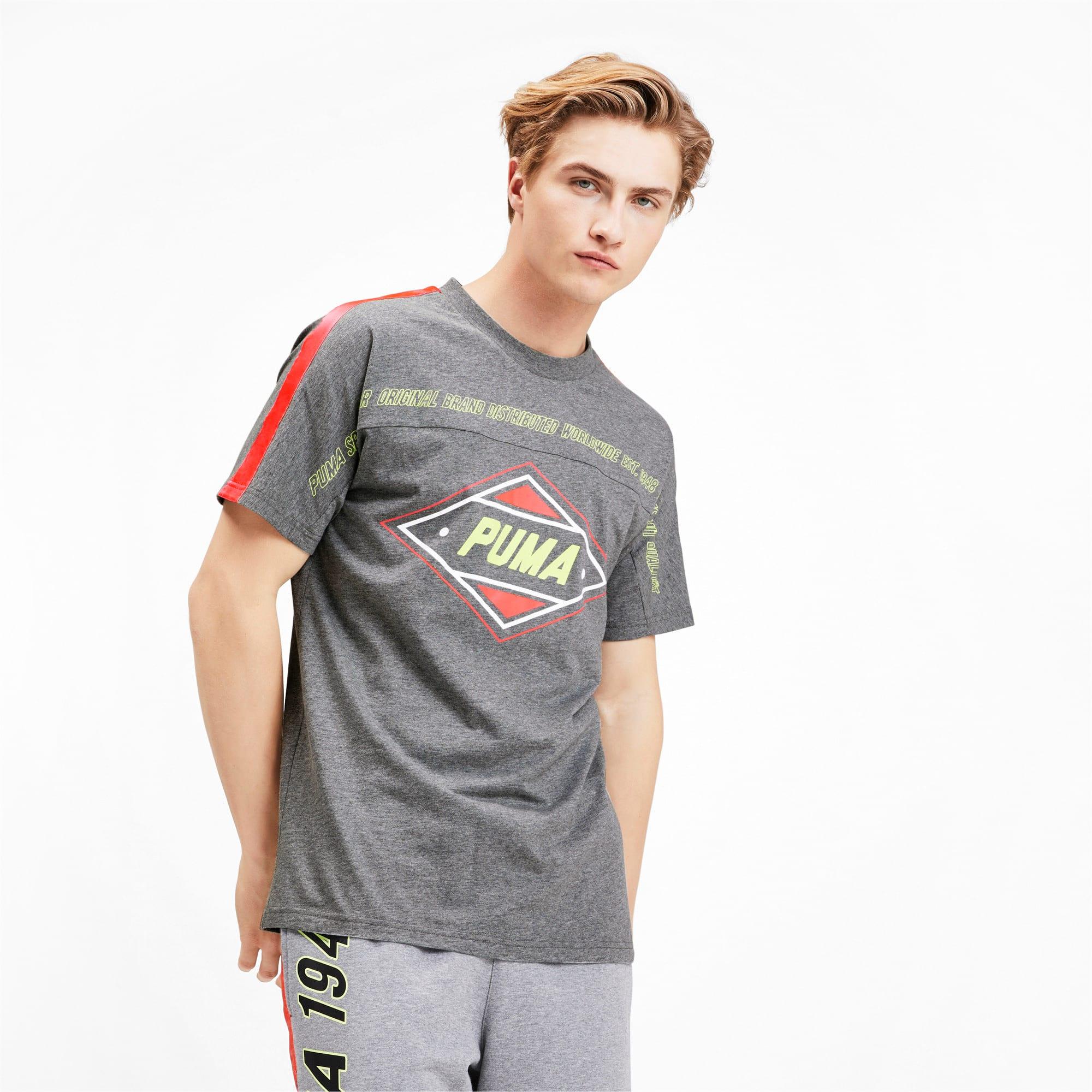 Miniatura 1 de Camiseta luXTG para hombre, Medium Gray Heather, mediano