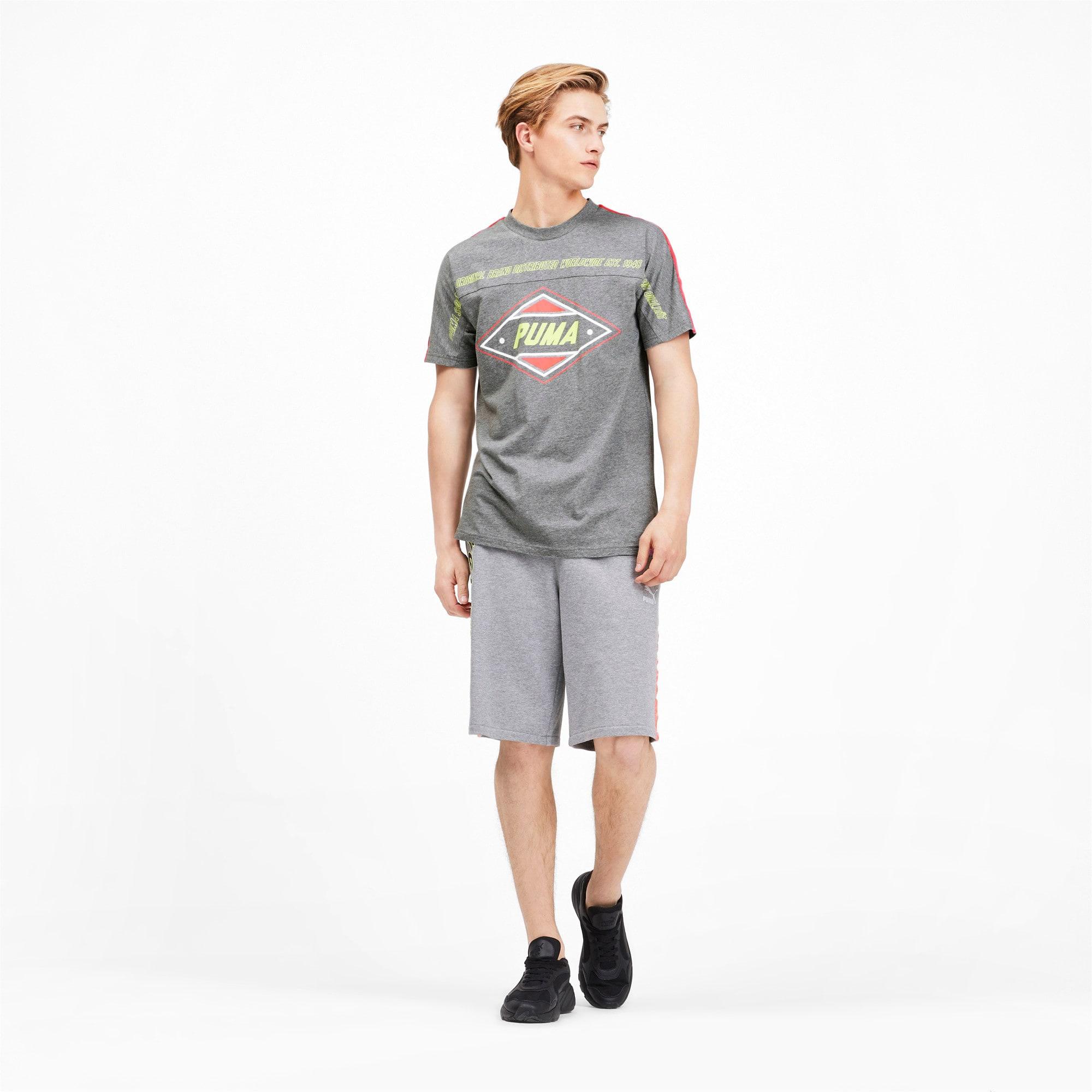 Miniatura 3 de Camiseta luXTG para hombre, Medium Gray Heather, mediano