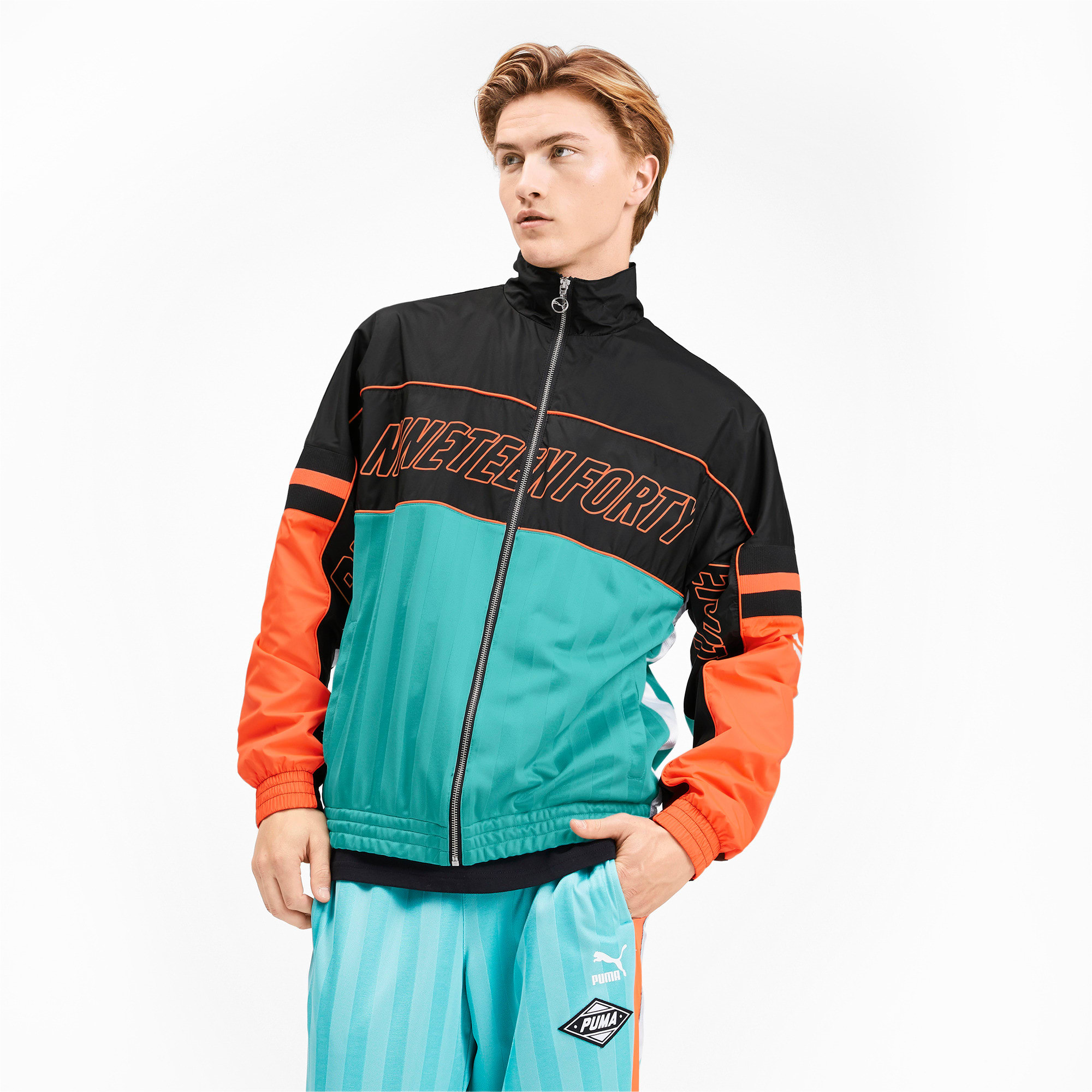 Thumbnail 1 of luXTG Woven Men's Track Jacket, Blue Turquoise, medium