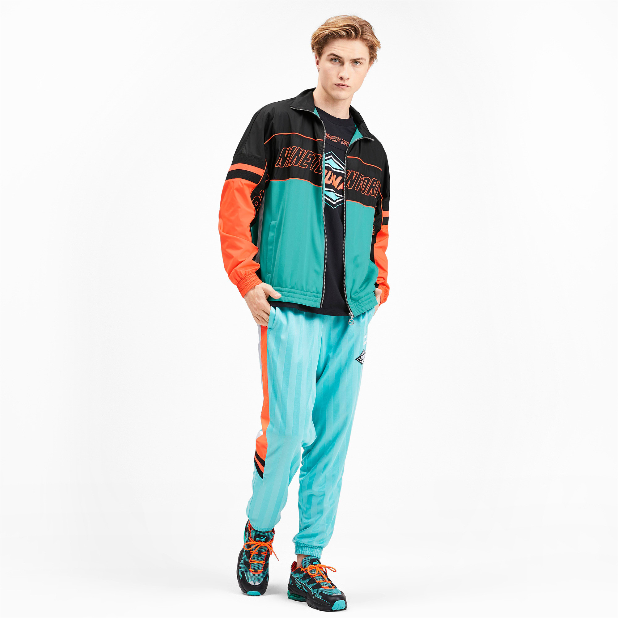 Thumbnail 3 of luXTG Woven Men's Track Jacket, Blue Turquoise, medium