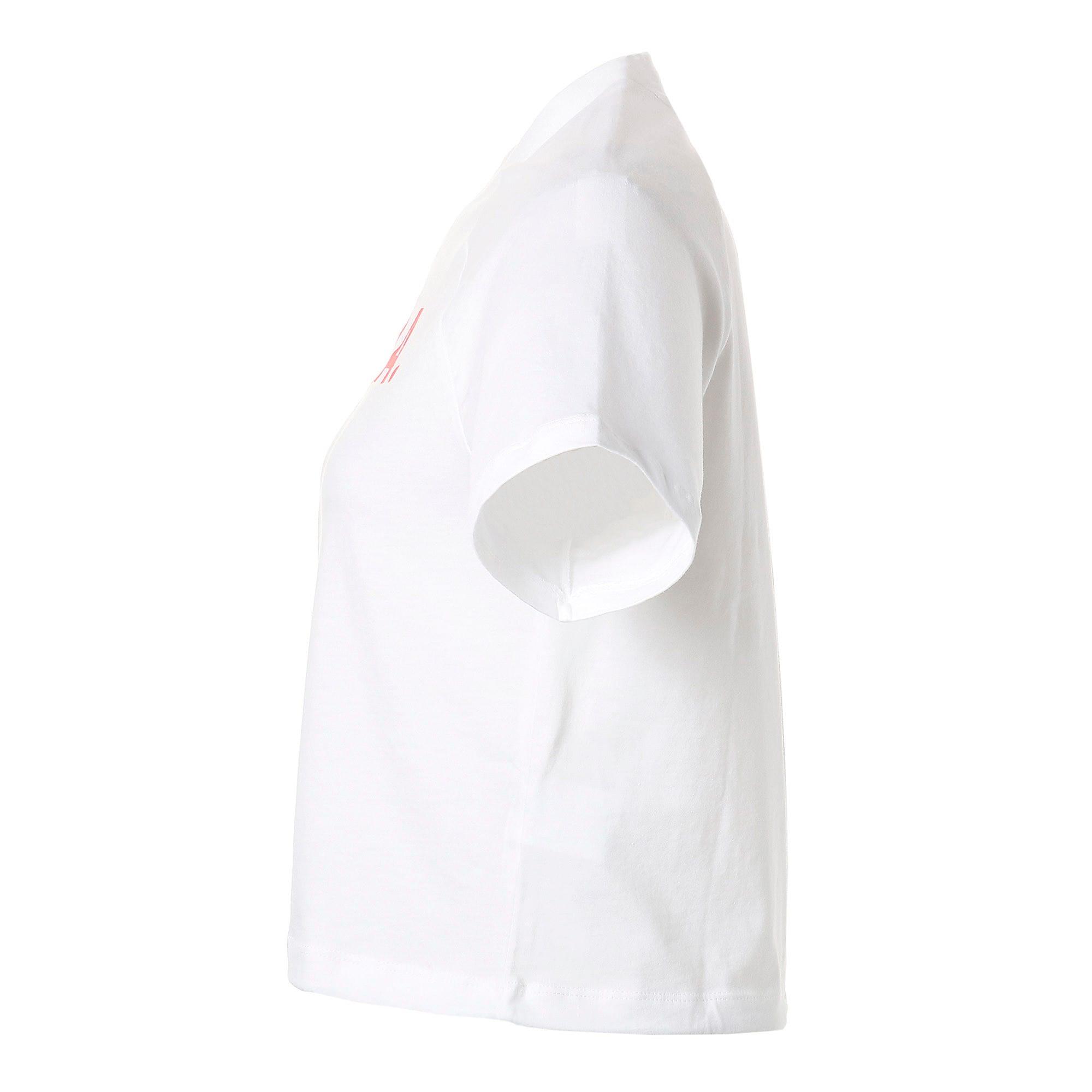 Thumbnail 6 of CHASE V SS ウィメンズ Tシャツ 半袖, Puma White, medium-JPN