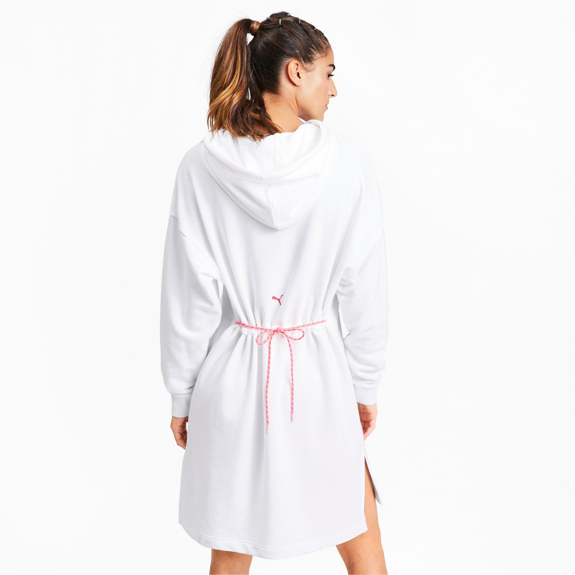 Thumbnail 3 of CHASE ウィメンズ フーデッドドレス, Puma White, medium-JPN