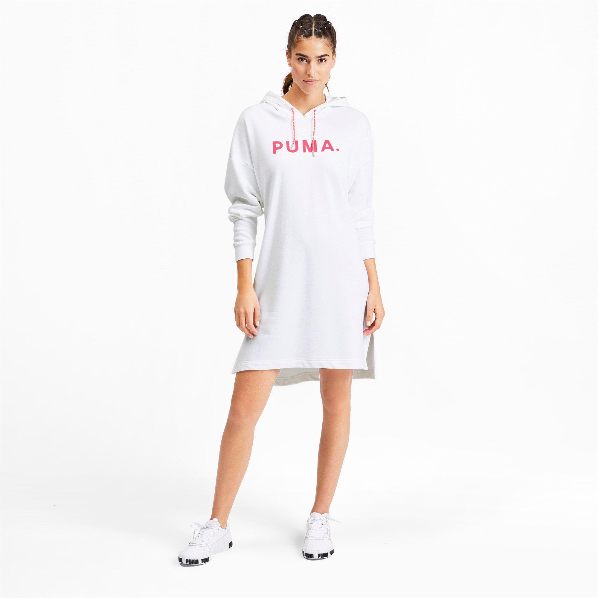Thumbnail 4 of CHASE ウィメンズ フーデッドドレス, Puma White, medium-JPN