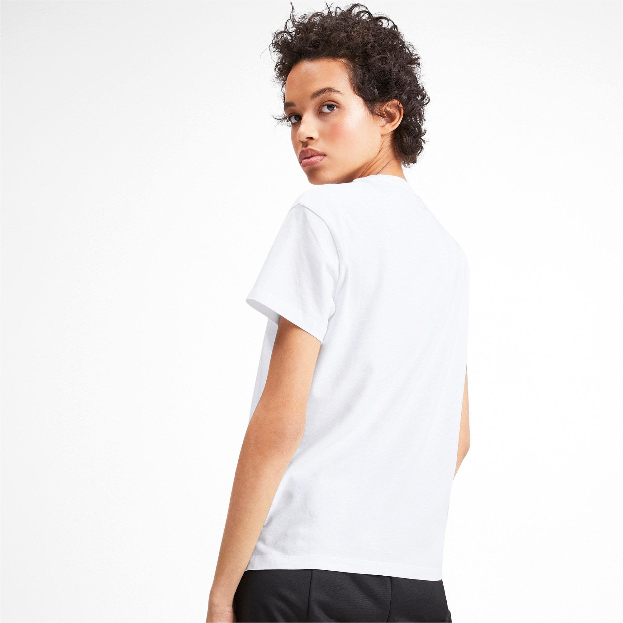 Thumbnail 3 of CLASSICS ロゴ ウィメンズ SS Tシャツ, Puma White, medium-JPN