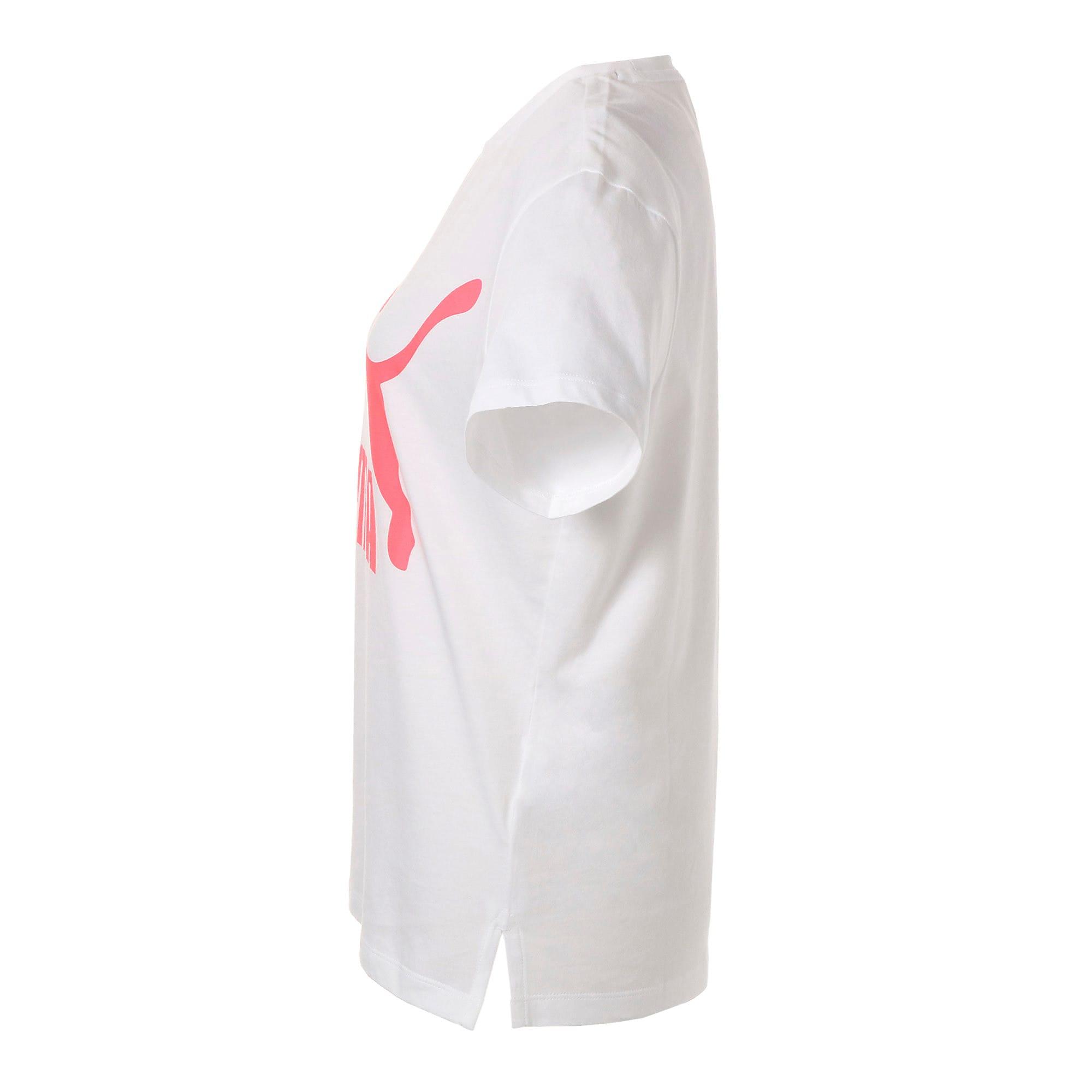 Thumbnail 6 of CLASSICS ロゴ ウィメンズ SS Tシャツ, Puma White, medium-JPN