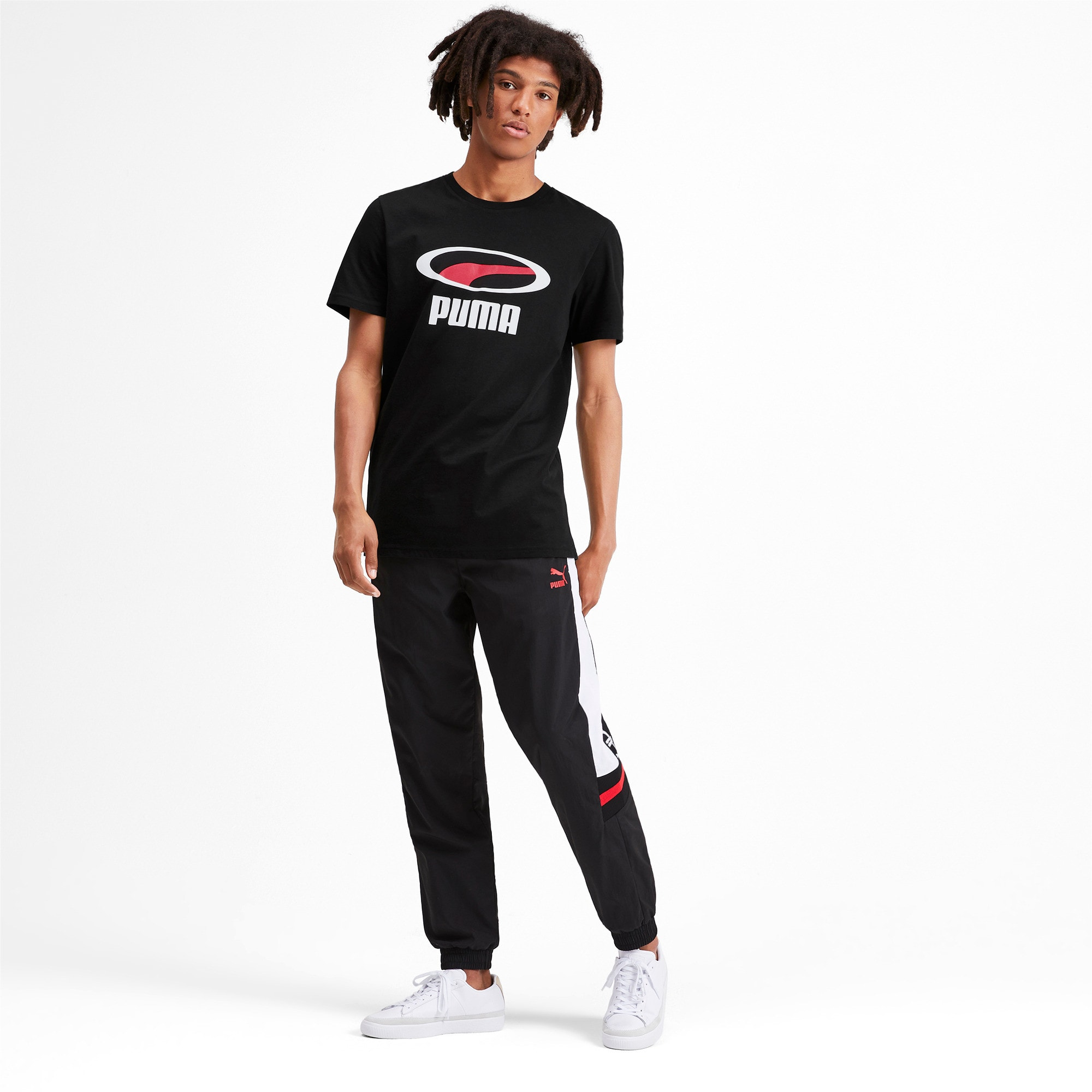 Thumbnail 3 of PUMA XTG グラフィック SS Tシャツ, Puma Black, medium-JPN