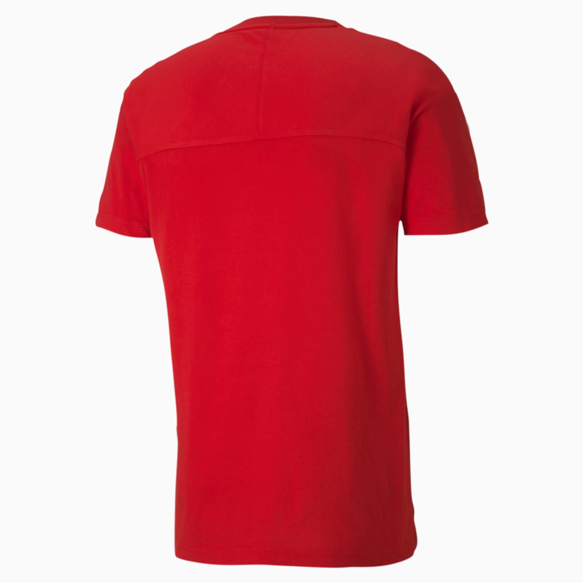 T-shirt da uomo FERRARI Classico in Cotone Girocollo Tee F1 Formula One 1 NUOVO Rosso XL