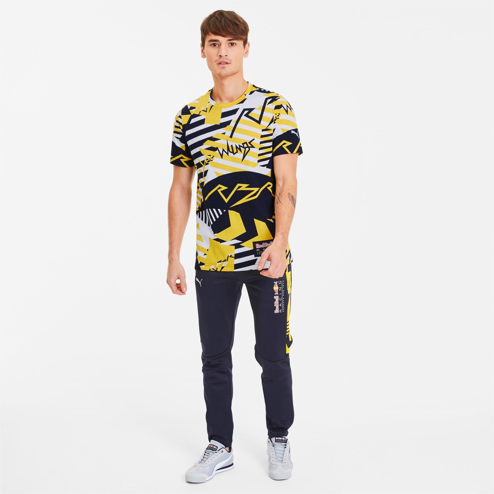 Red Bull Racing Allover Print Herren T Shirt   Freesia