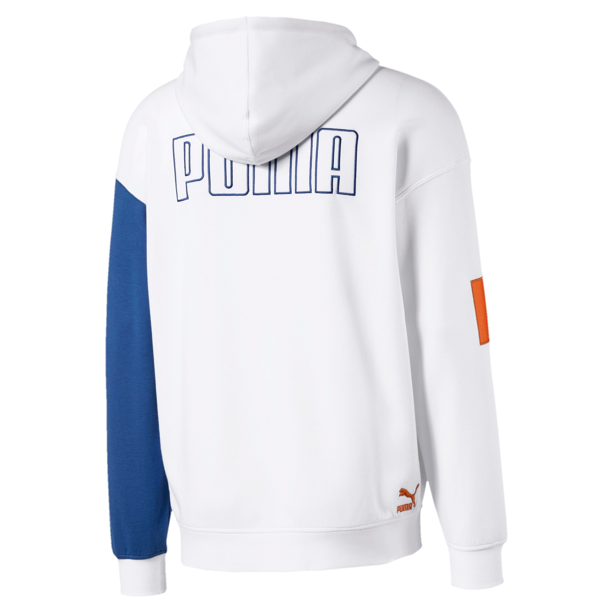Thumbnail 2 of Colour Block Hooded Men's Sweat Jacket, Puma White, medium