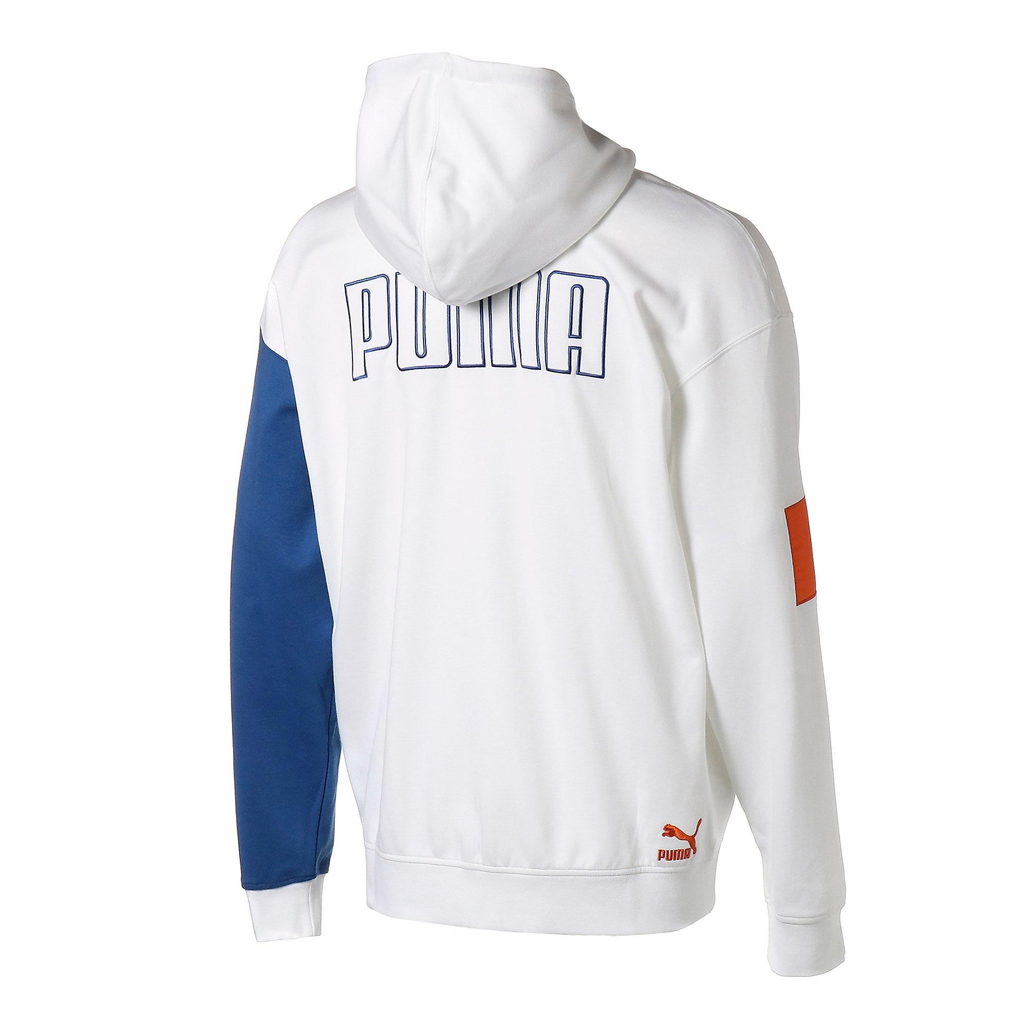 Thumbnail 3 of COLOUR BLOCK ジップアップ フーディ, Puma White, medium-JPN