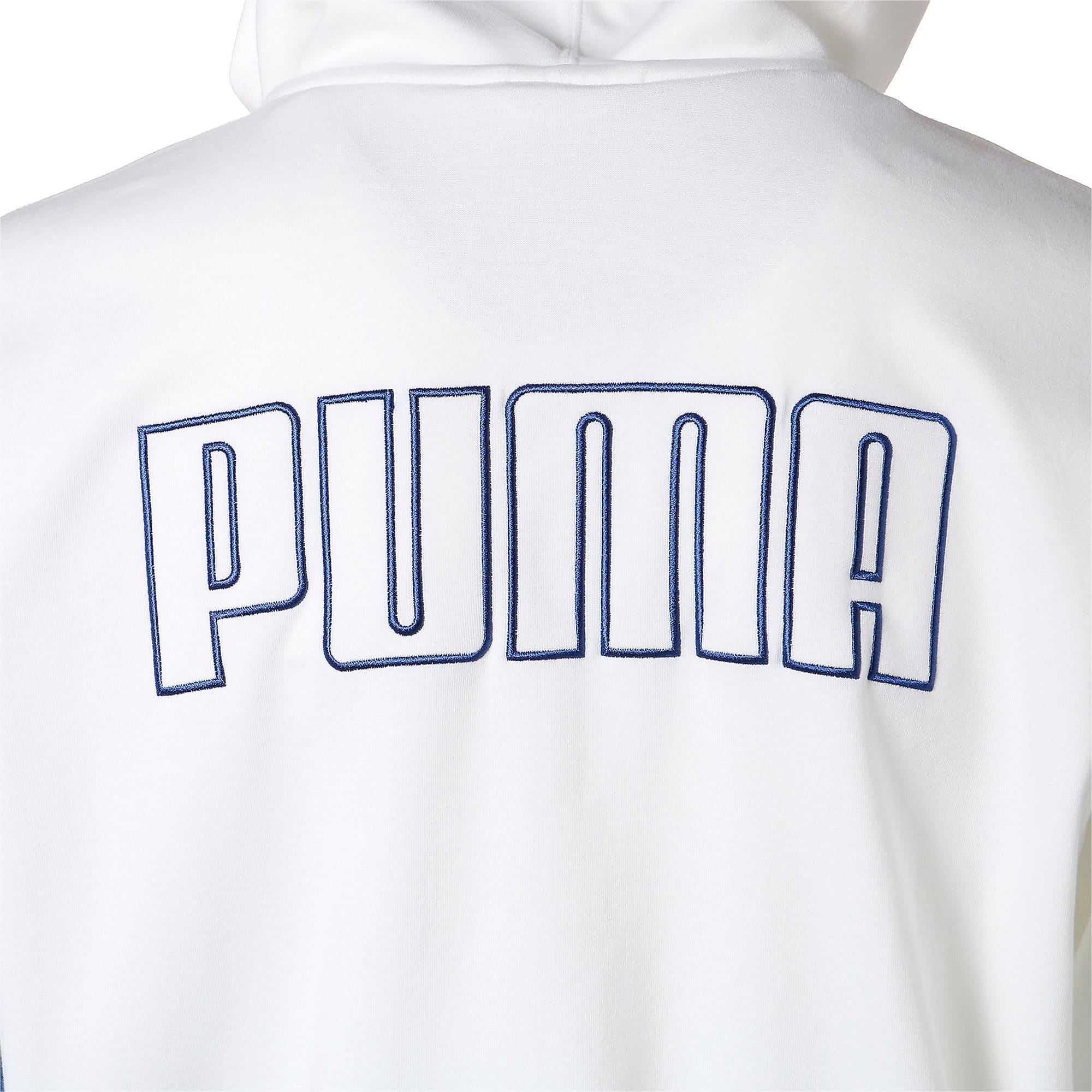 Thumbnail 10 of COLOUR BLOCK ジップアップ フーディ, Puma White, medium-JPN
