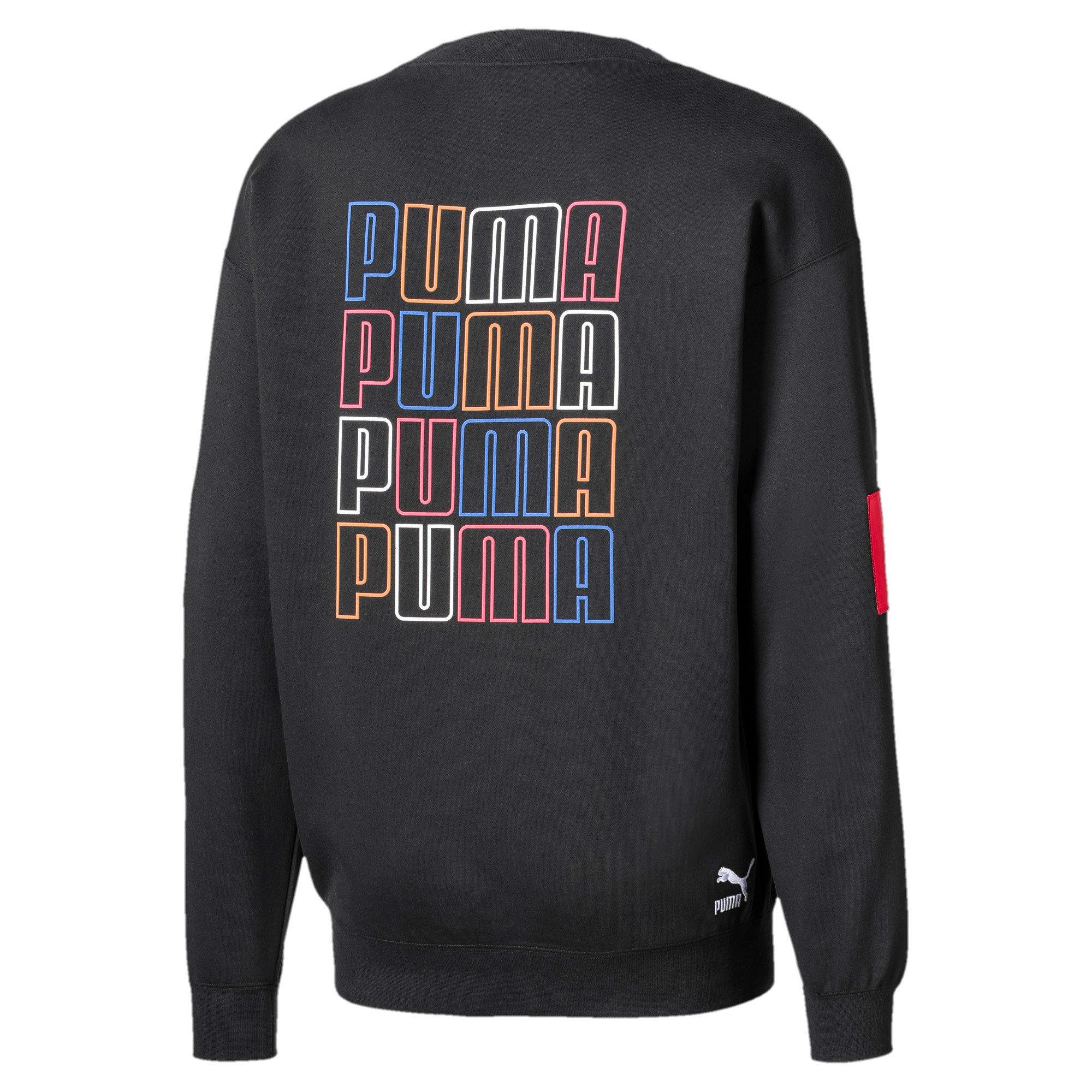 Thumbnail 2 of Men's Crew Sweater, Puma Black, medium