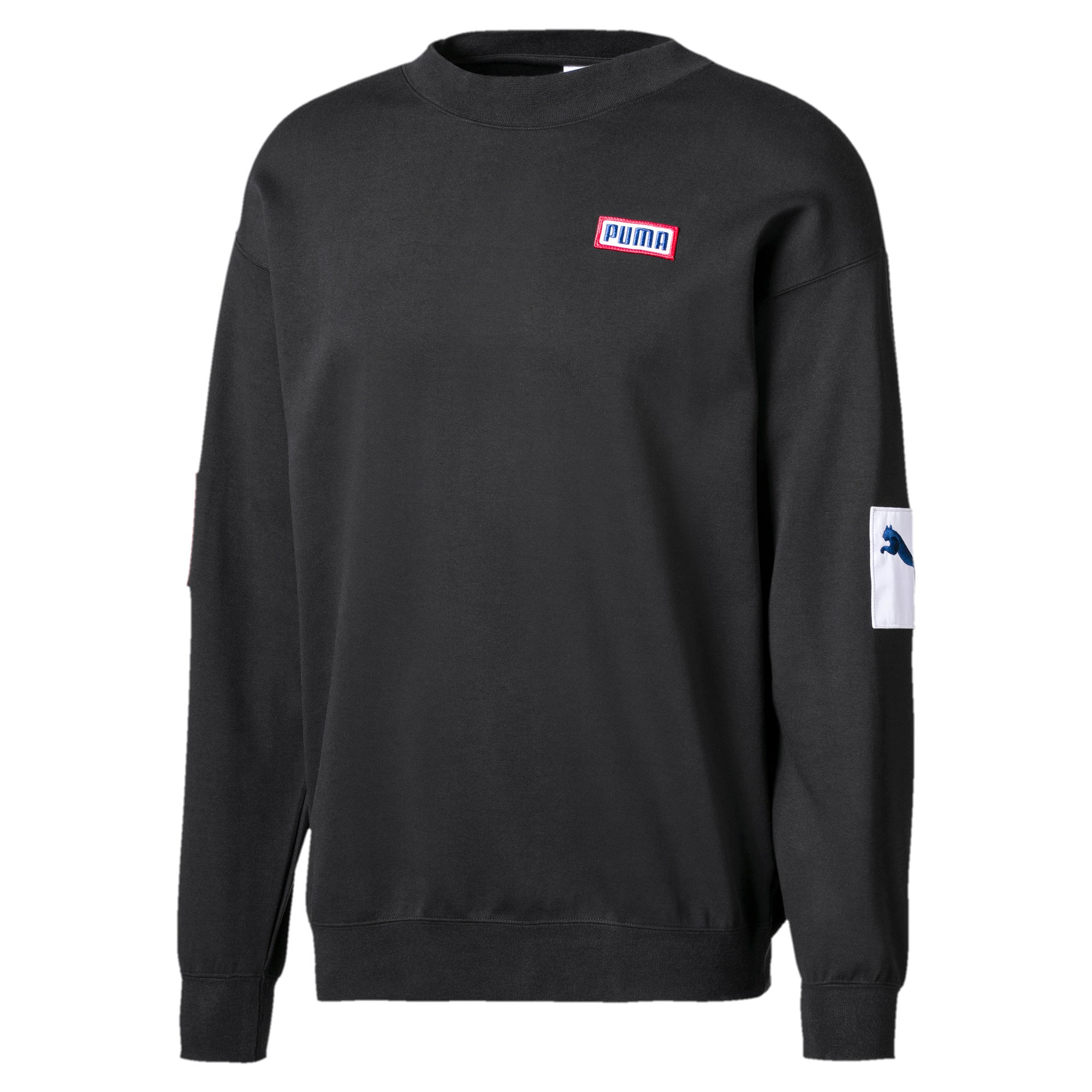 Thumbnail 1 of Men's Crew Sweater, Puma Black, medium