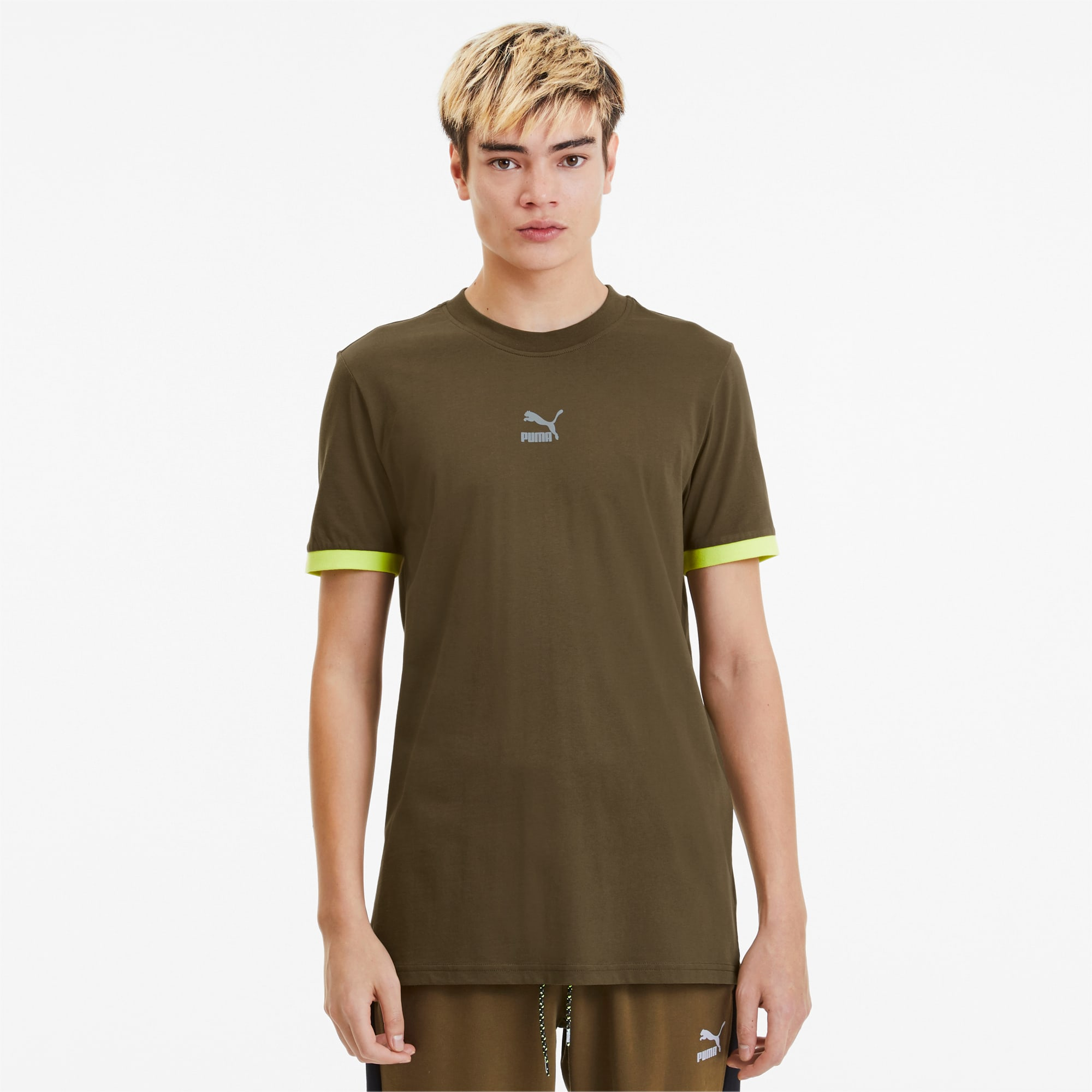 Tailored for Sport Herren T Shirt | Dark Olive | PUMA Shoes