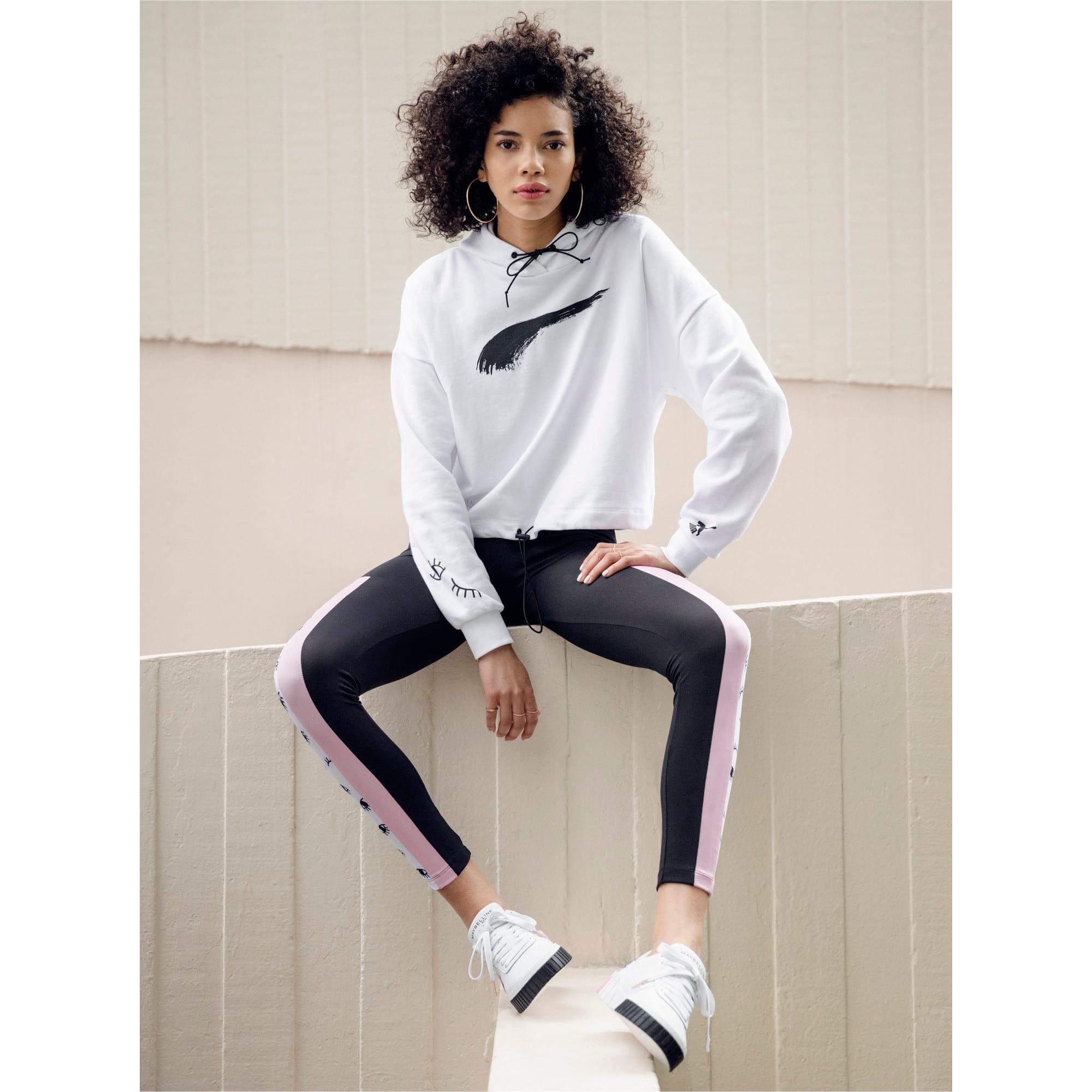 Thumbnail 3 van PUMA x MAYBELLINE hoodie voor vrouwen, Puma White, medium