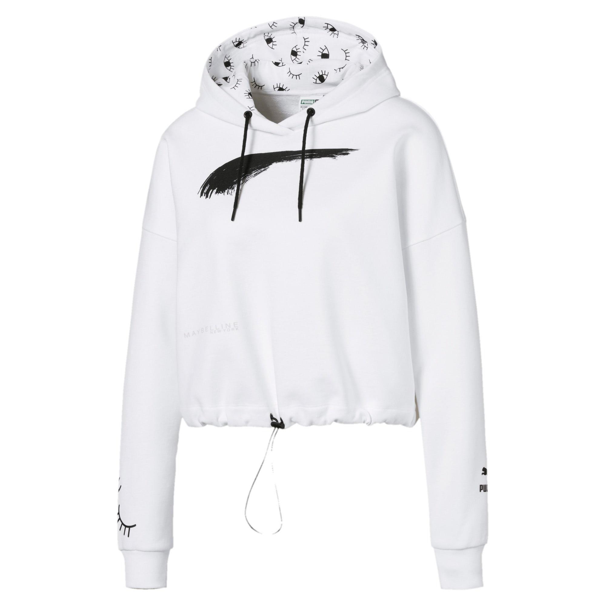 Thumbnail 1 van PUMA x MAYBELLINE hoodie voor vrouwen, Puma White, medium