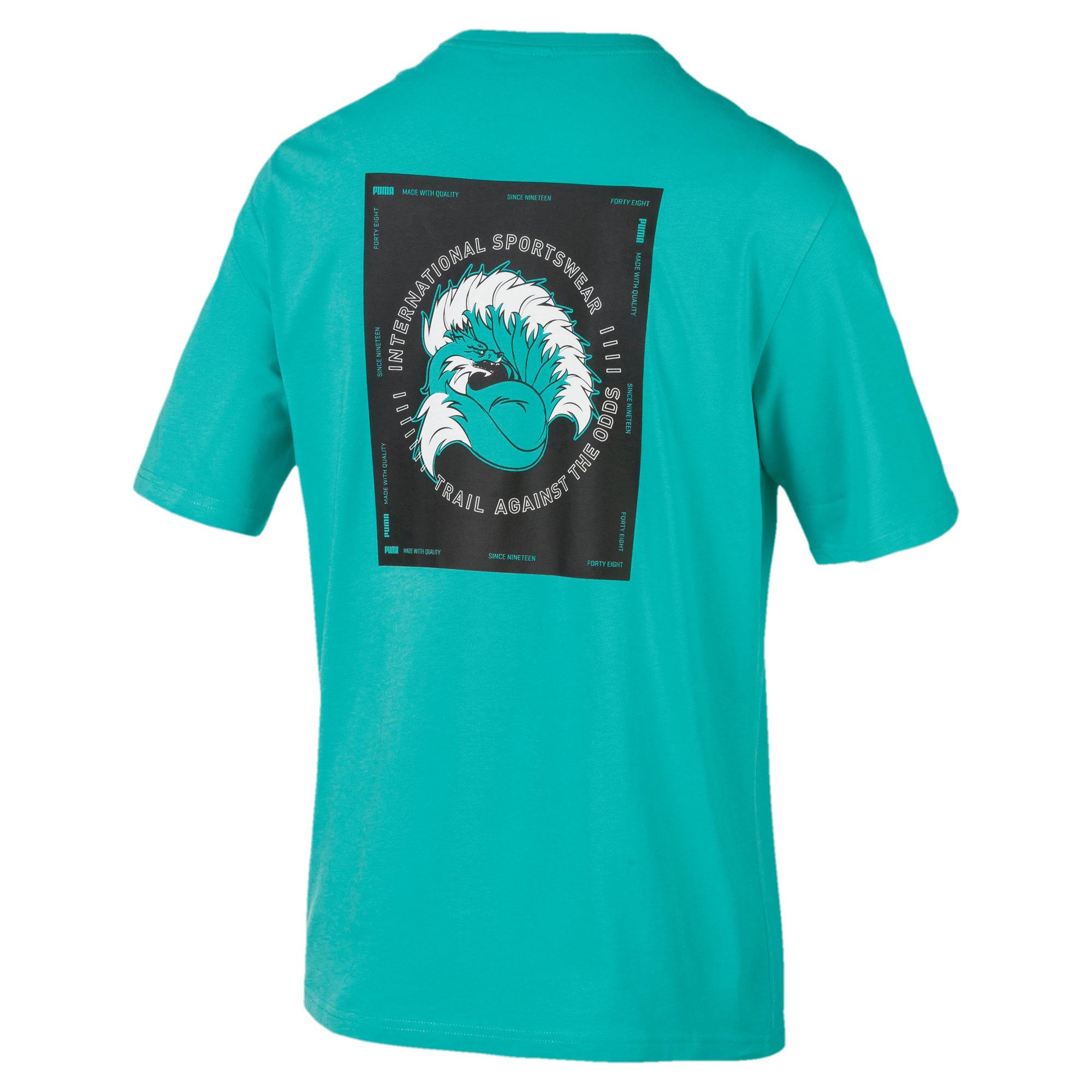 Thumbnail 2 of XTG Trail Graphic Short Sleeve Men's Tee, Blue Turquoise, medium