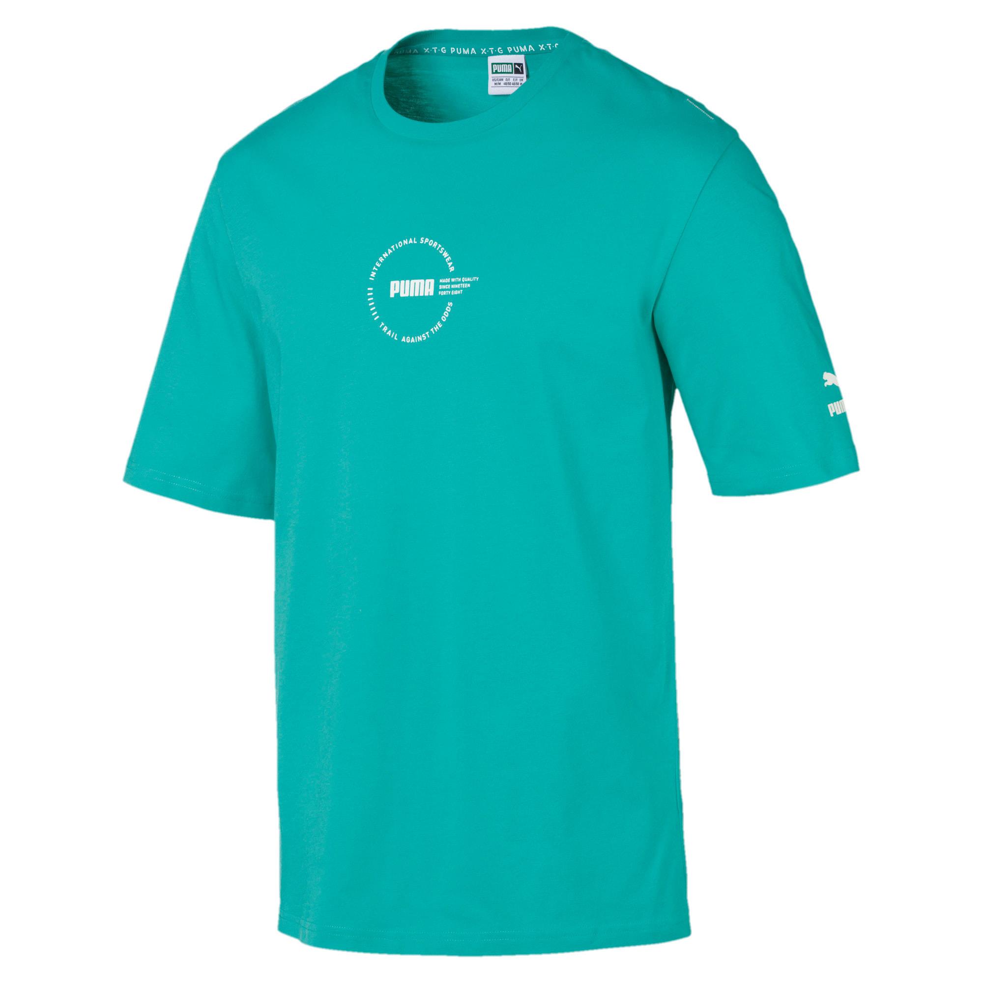 Thumbnail 1 of XTG Trail Graphic Short Sleeve Men's Tee, Blue Turquoise, medium