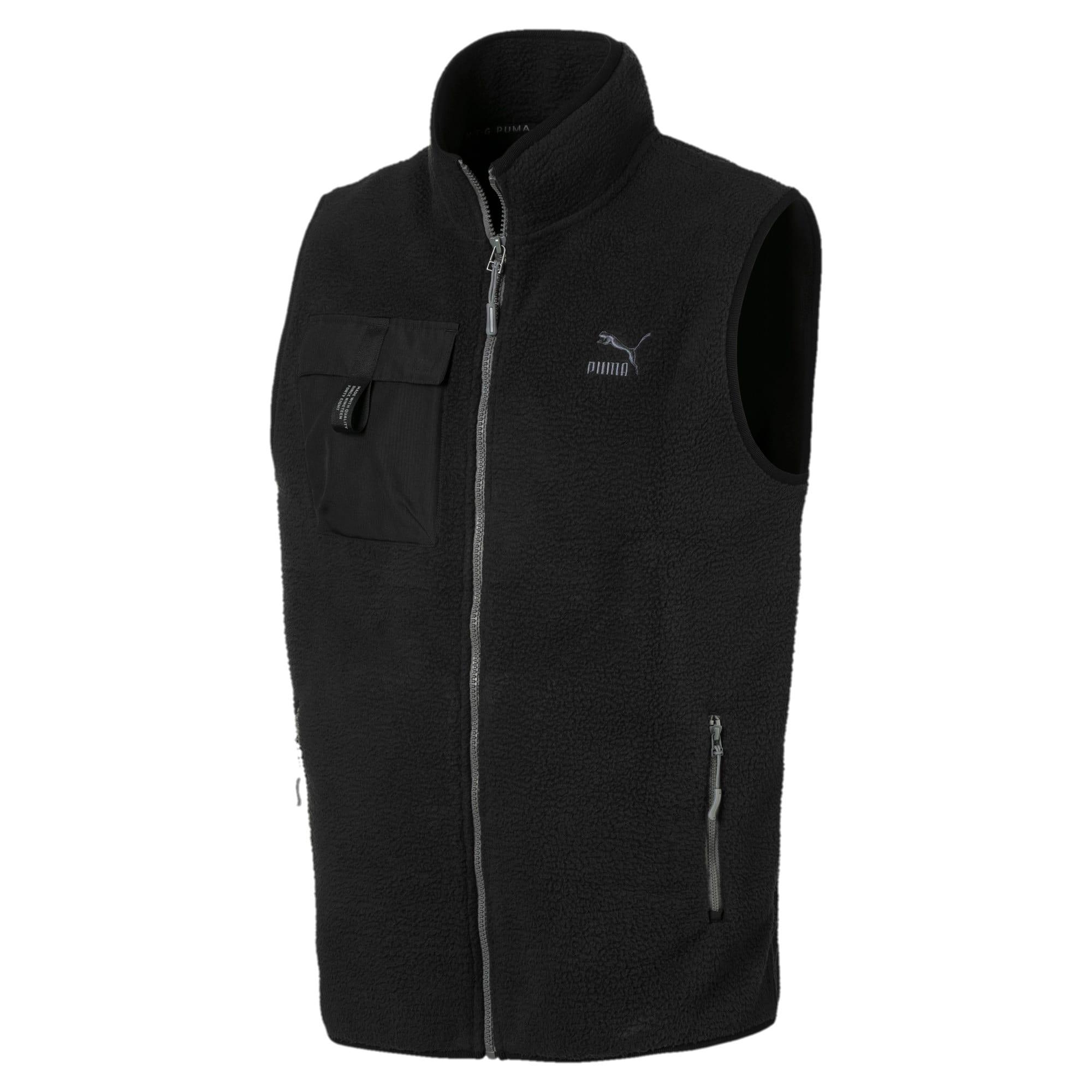 Thumbnail 1 of XTG Trail Fleece Full Zip Men's Pocket Gilet, Puma Black, medium