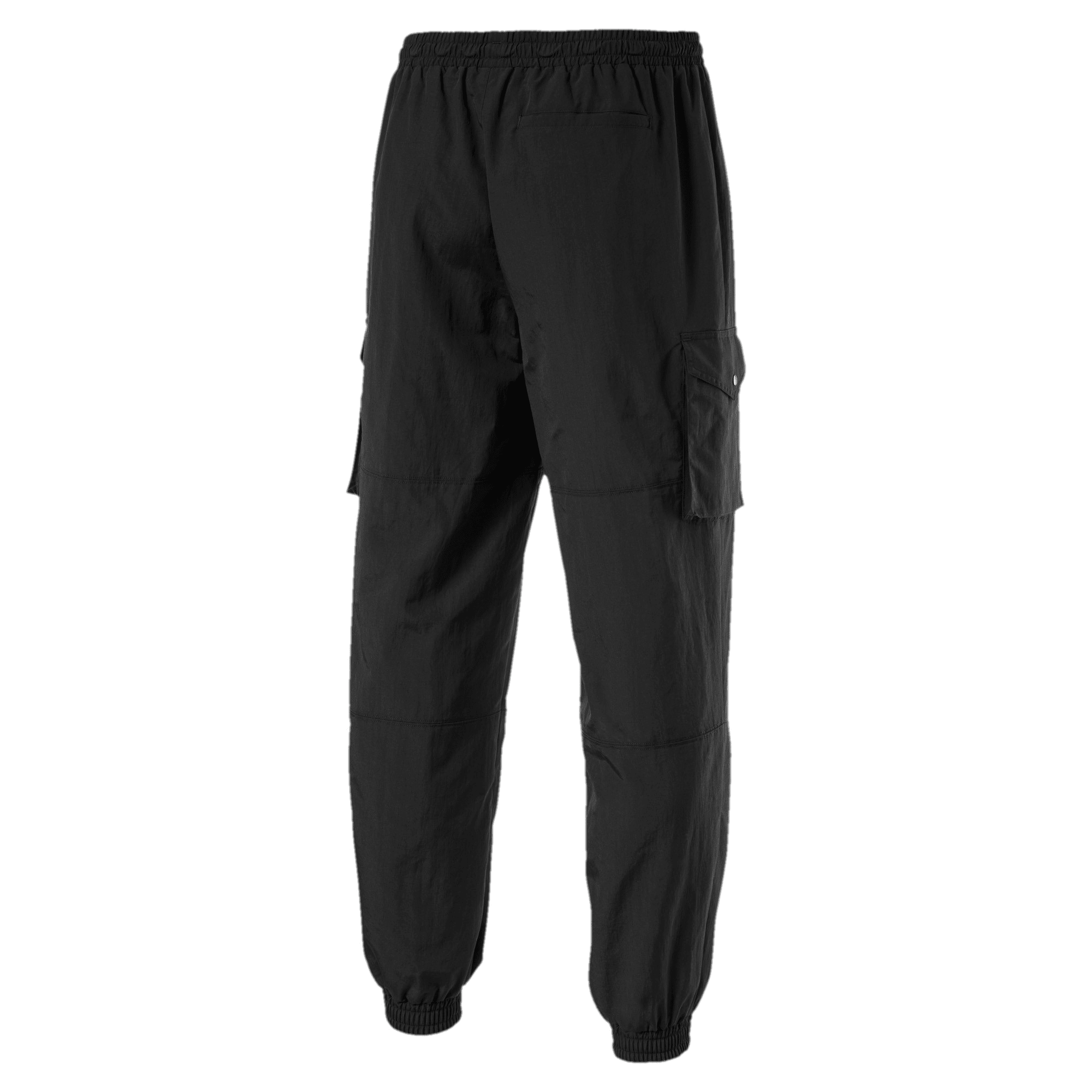 Thumbnail 2 of Sports Fashion Woven Men's Sweatpants, Puma Black, medium