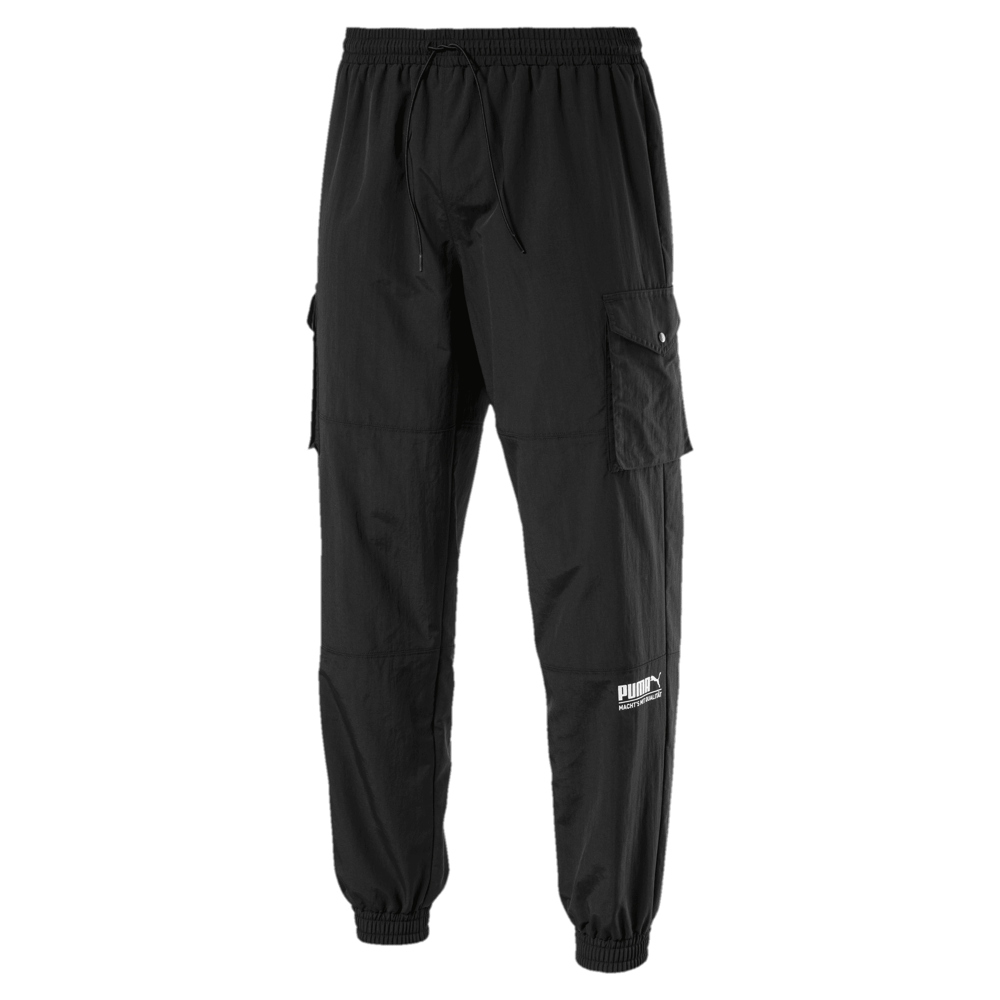 Thumbnail 1 of Sports Fashion Woven Men's Sweatpants, Puma Black, medium