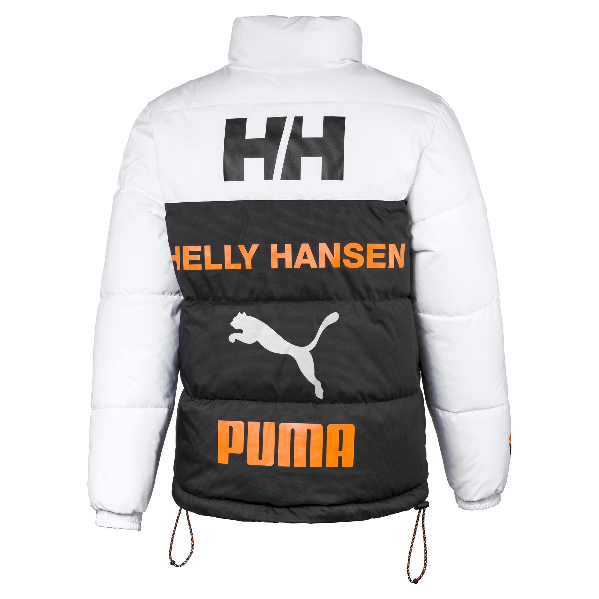 PUMA x HELLY HANSEN Fake Down Jacket, Puma Black-AOP front, large