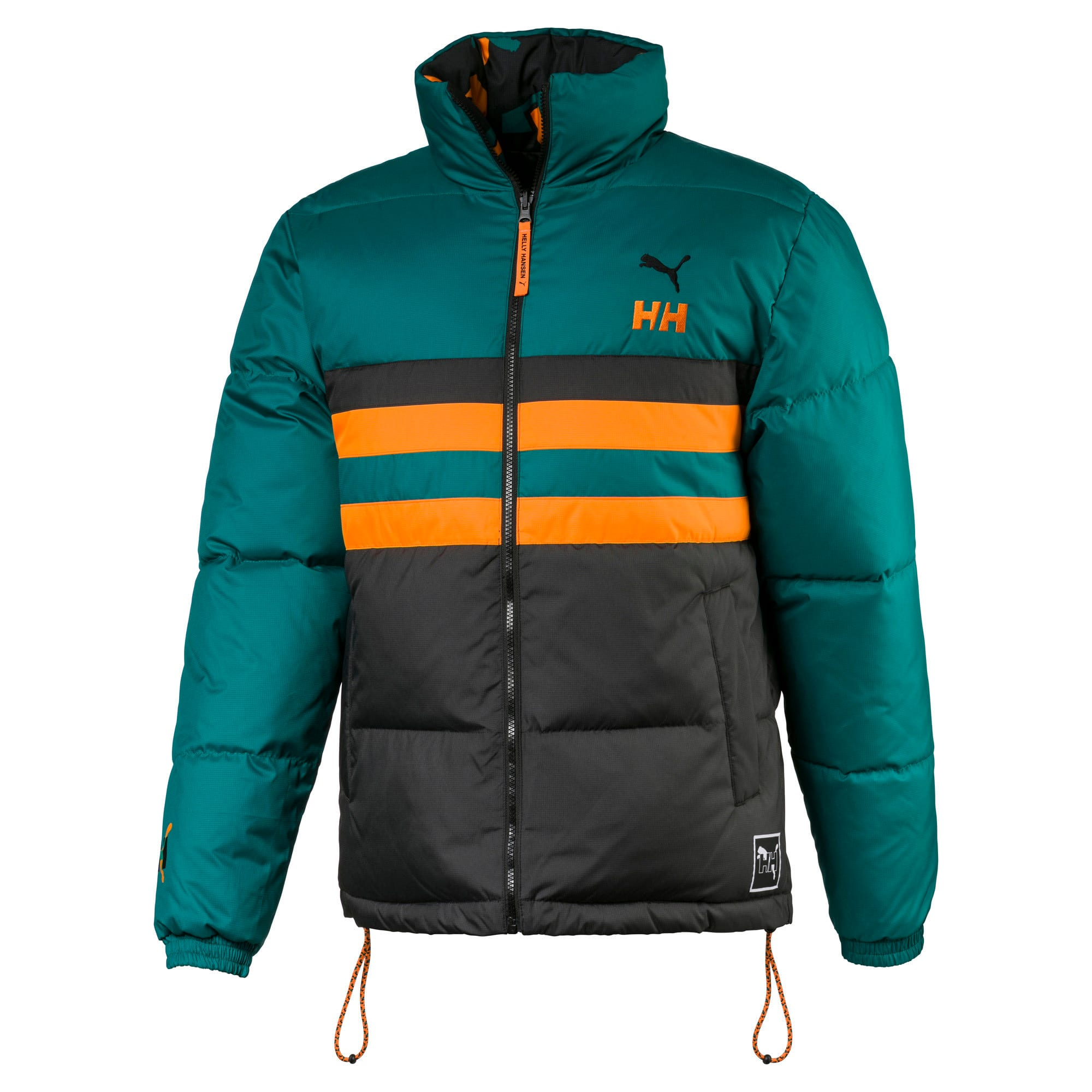 PUMA x HELLY HANSEN Fake Down Jacket, Teal Green-AOP front, large