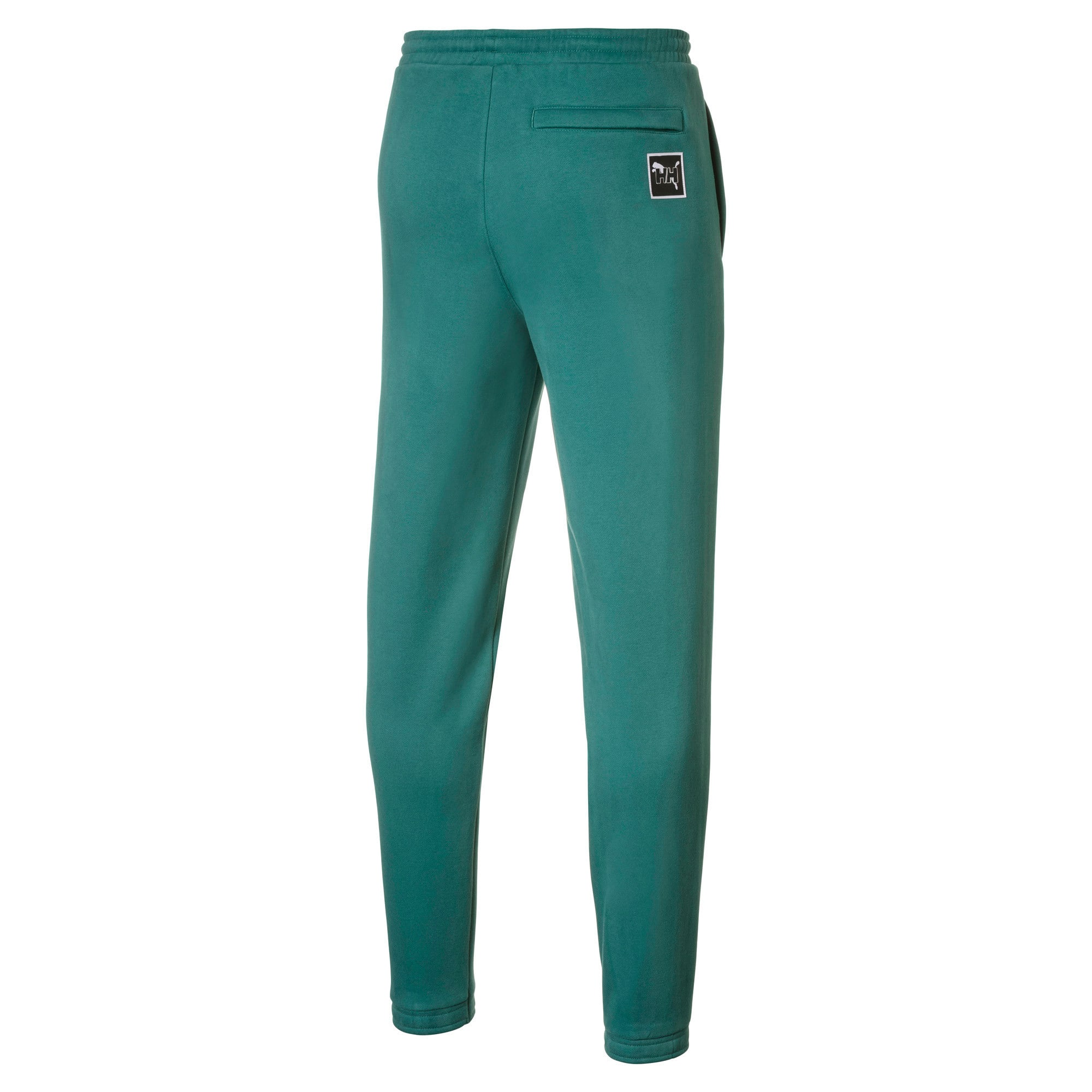 Thumbnail 2 of PUMA x HELLY HANSEN Fleece Trainingshose, Teal Green, medium